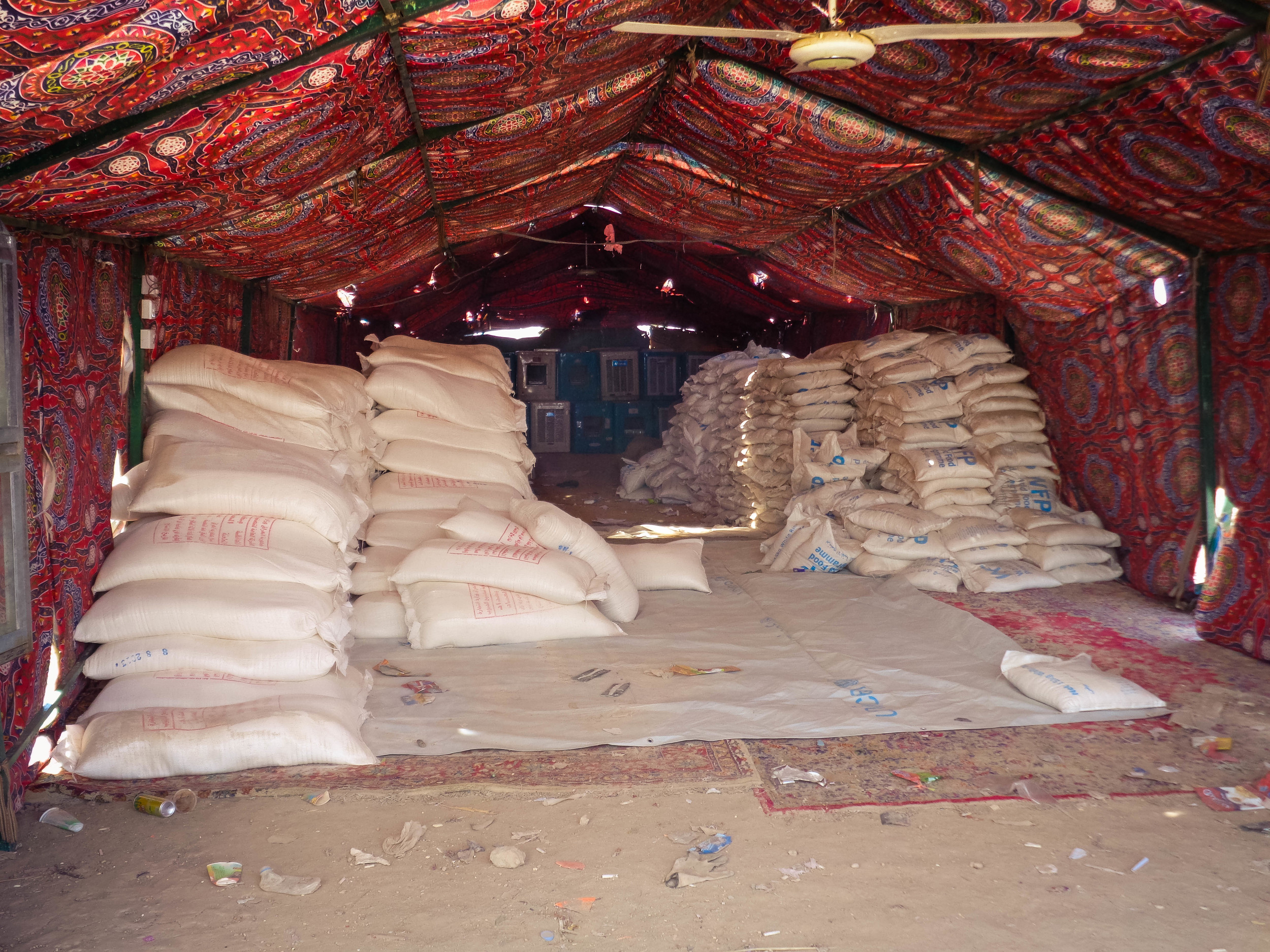 International agencies contribute food and relief items to some of the camps, but the donations are often sporadic and insufficient.