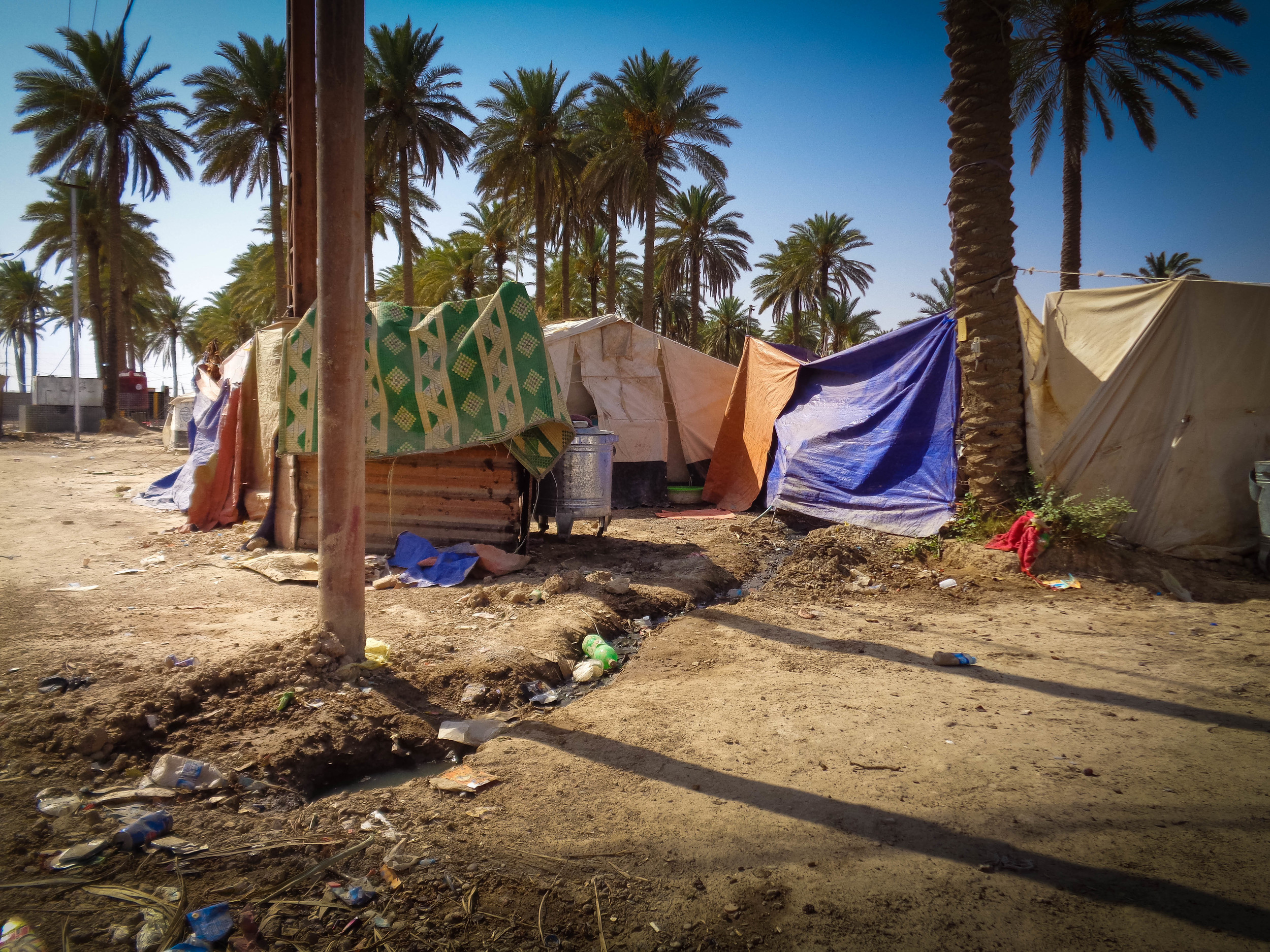 Water, sanitation, and hygiene systems in the camps are usually underdeveloped or non-existent.