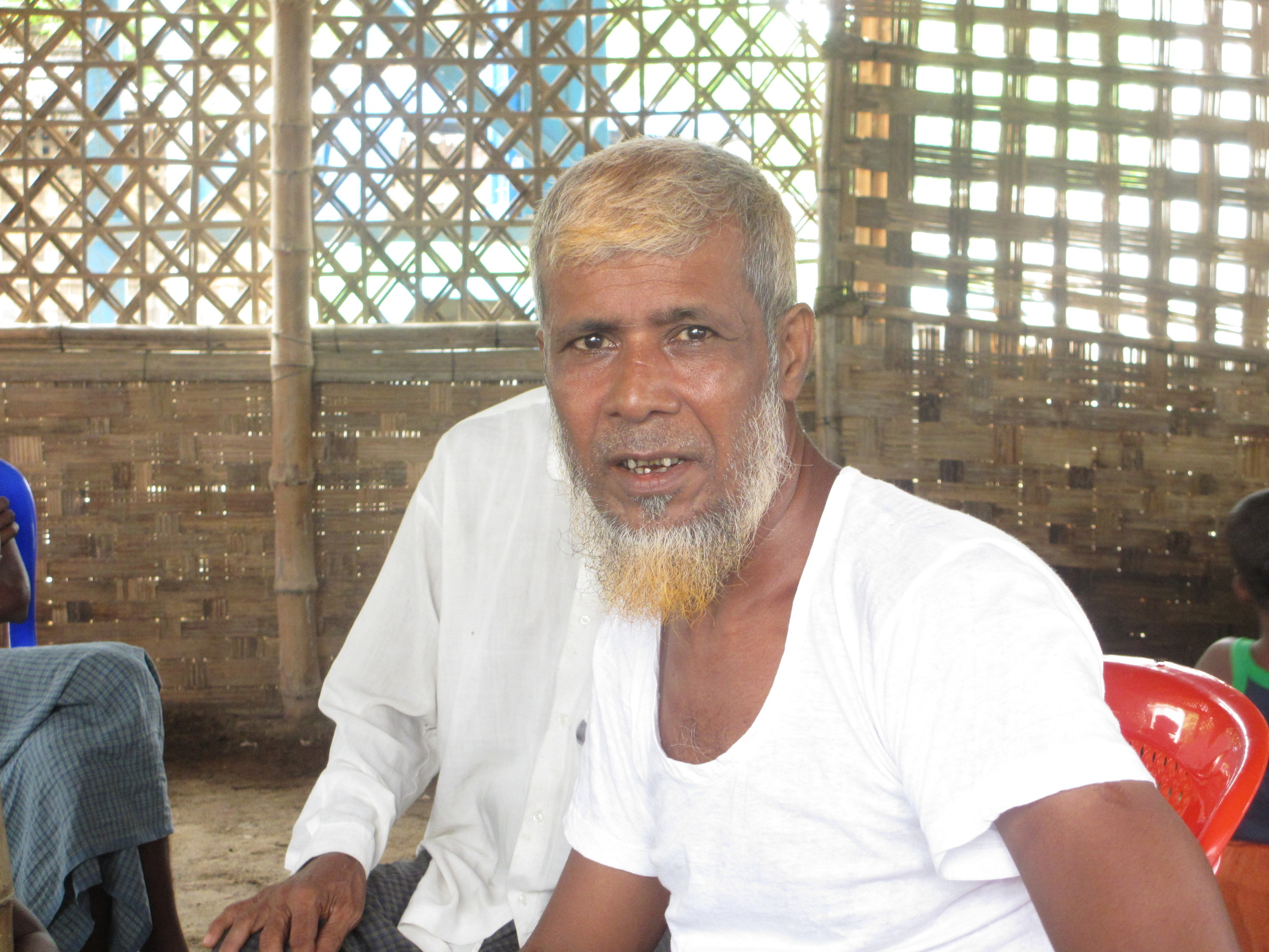 This man's son fled on a boat that was intercepted by traffickers in April 2014. He has not been heard from since.