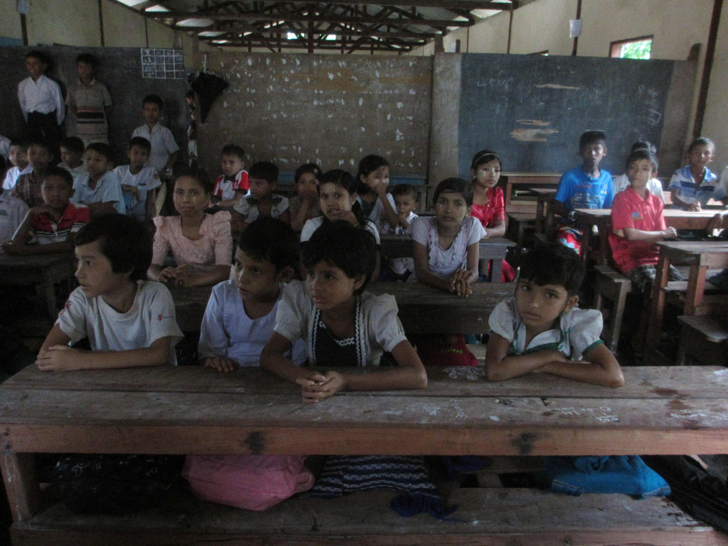 With assistance from international organizations, the Rohingya have started educating their children. But Rohingya teachers are not paid, and facilities for secondary students do not exist yet.