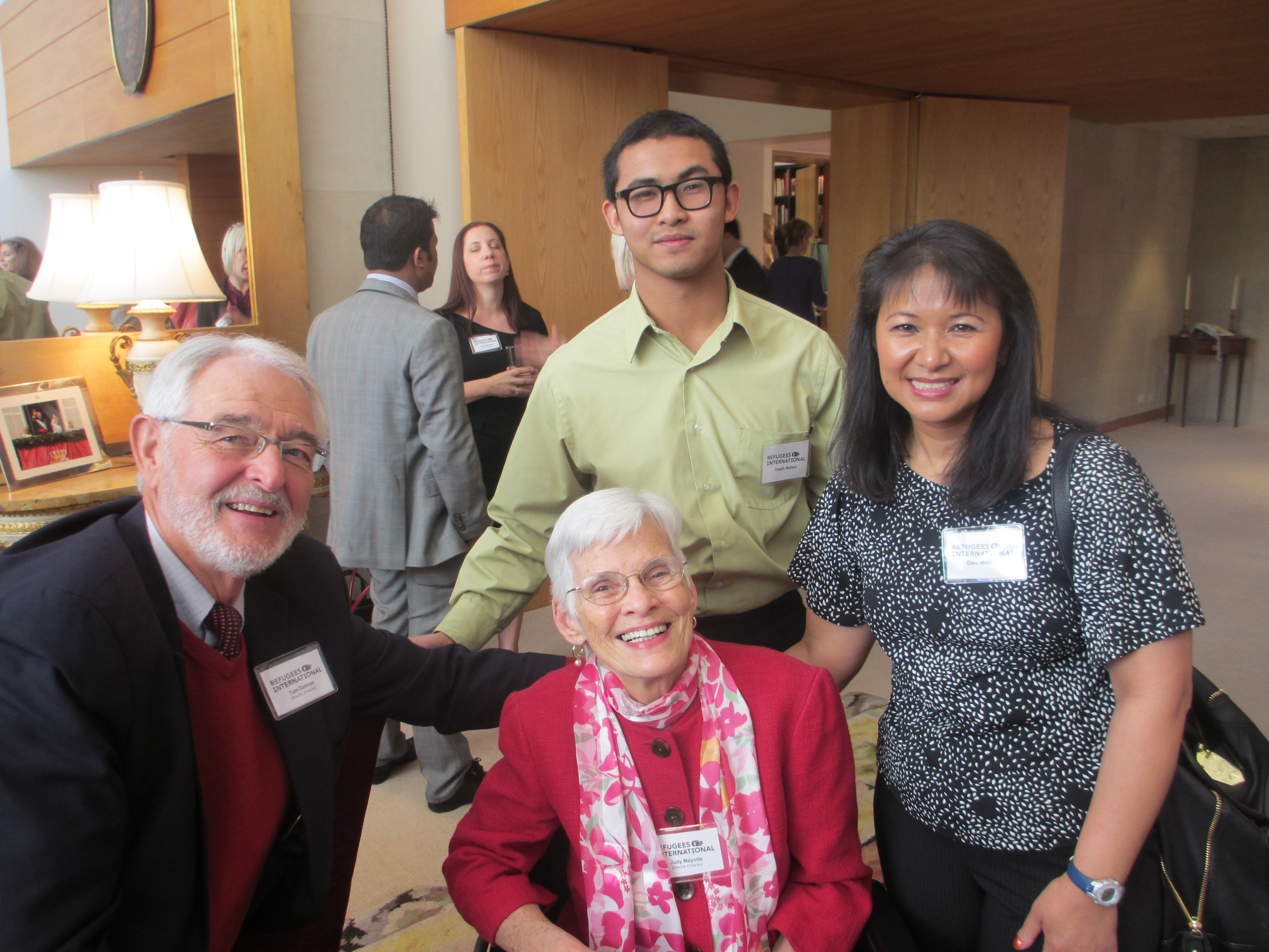 RI Director Emeritus Tom Getman, Viseth Morton, Director Emeritus Judy Mayotte and Dani Morton