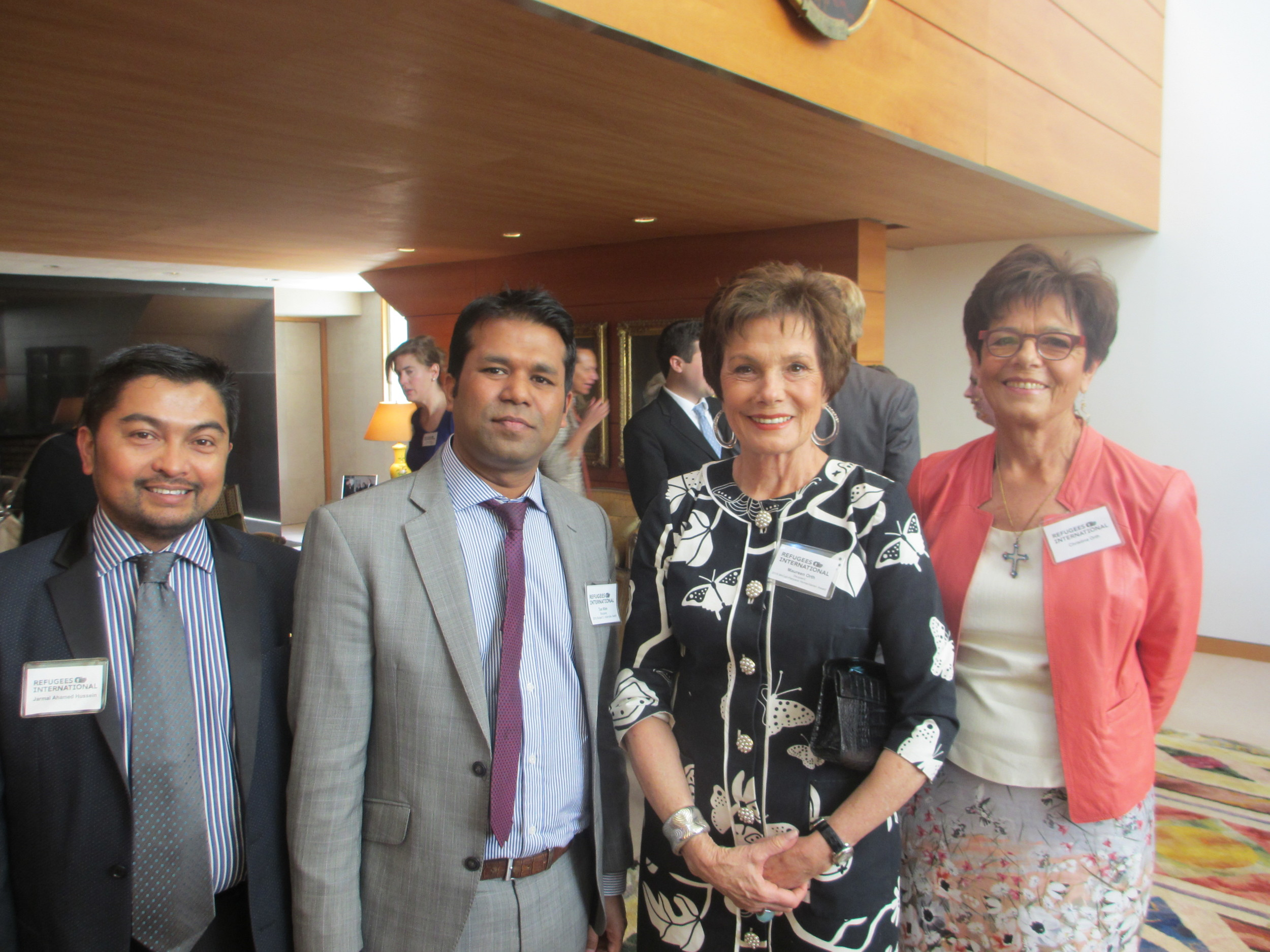 Jamal Ahamed Hussein, Richard C. Holbrooke Award Recipient Tun Khin, McCall-Pierpaoli Award Recipient Maureen Orth, and Christina Orth