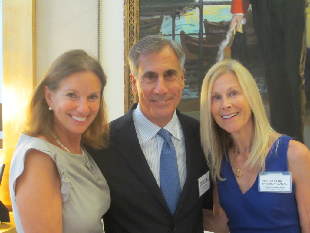 RI's 36th Anniversary Dinner Benefit Chairs Frederica and George Valanos and RI Board Chair Eileen Shields-West