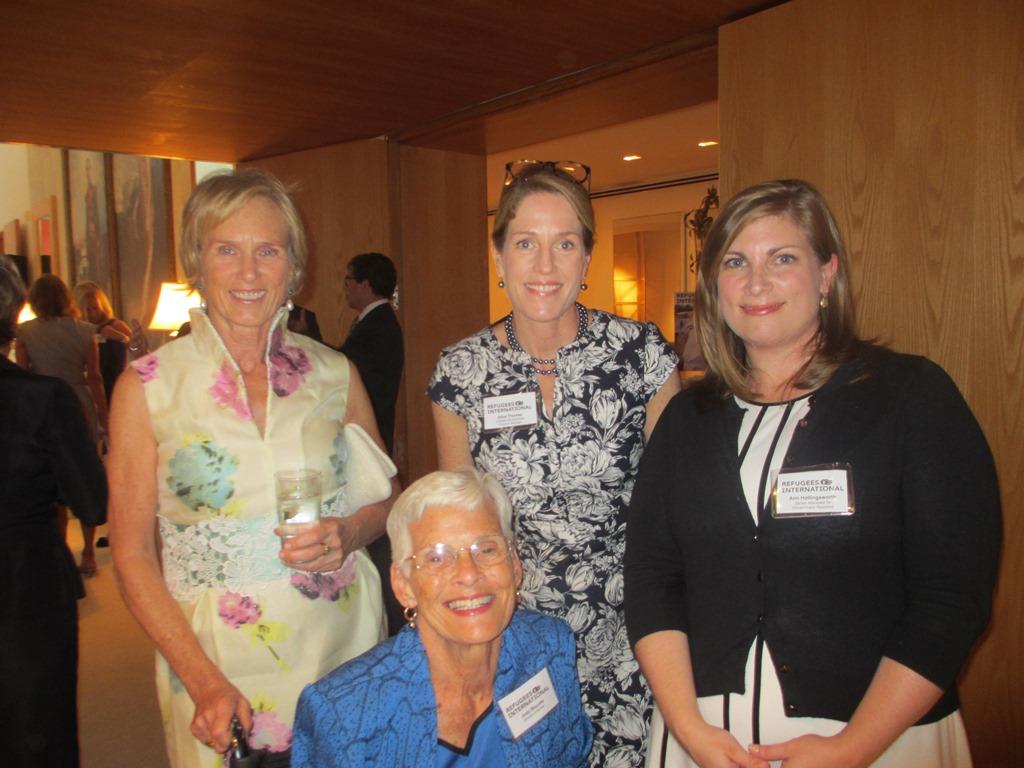 Dane Nichols, RI Board Emeritus Judy Mayotte, RI Climate Displacement Program Manager Alice Thomas, and RI Senior Advocate for Government Relations Ann Hollingsworth