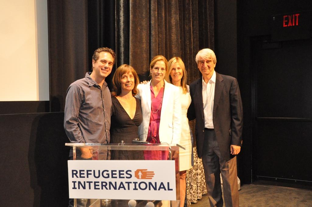 Thomas Sadoski, RI Board Member Tatiana Maxwell, Alice Thomas, RI Board Chair Eileen Shields-West, and Sam Waterston