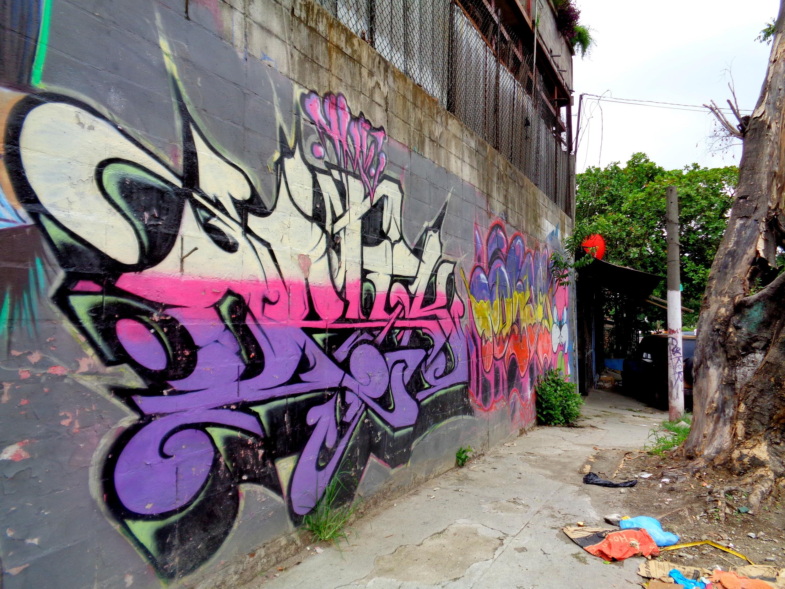 Graffiti in San Salvador's Mejicanos neighborhood.