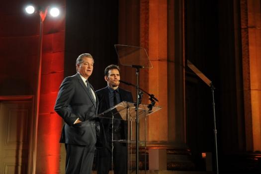 Global Partnership Chair Nels Olson and Matt Dillon