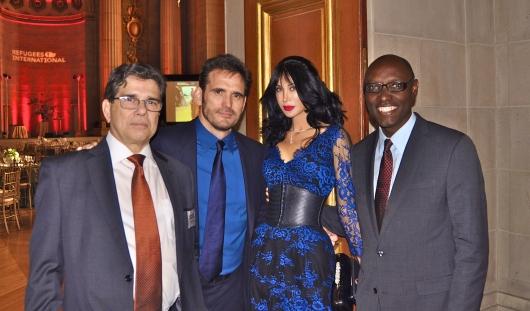 RI President Michel Gabaudan, RI Board Member Matt Dillon and Demet Oger, and former Holbrooke Award winner Jacques Sebisaho