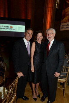 Benefit Chairs George and Frederica Valanos and Tom Getman, RI Board Emeritus Member