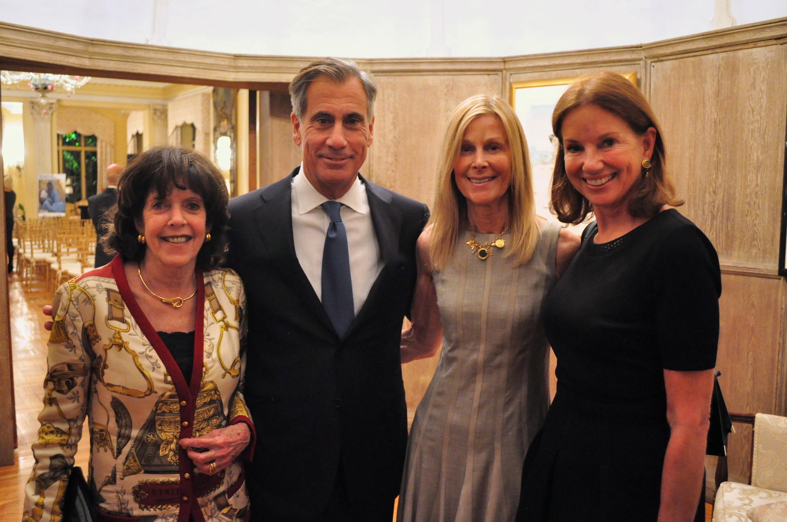 Didi Cutler, George Valanos, RI Chair Eileen Shields-West, and Frederica Valanos.