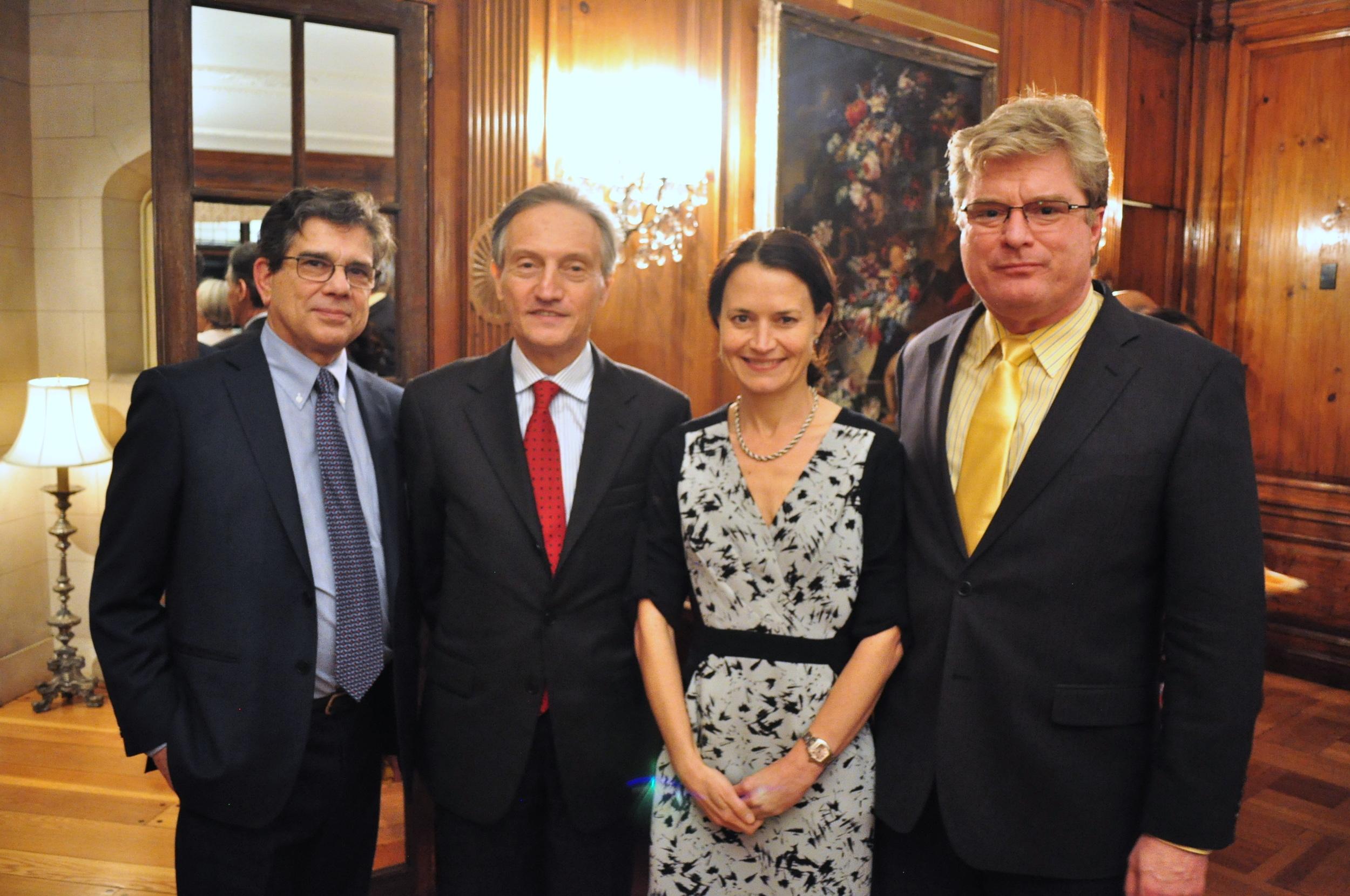RI President Michel Gabaudan, Ambassador of Italy Claudio Bisogniero, Deputy Assistant Secretary Catherine Wiesner, and Principal Deputy Assistant Secretary Simon Henshaw.