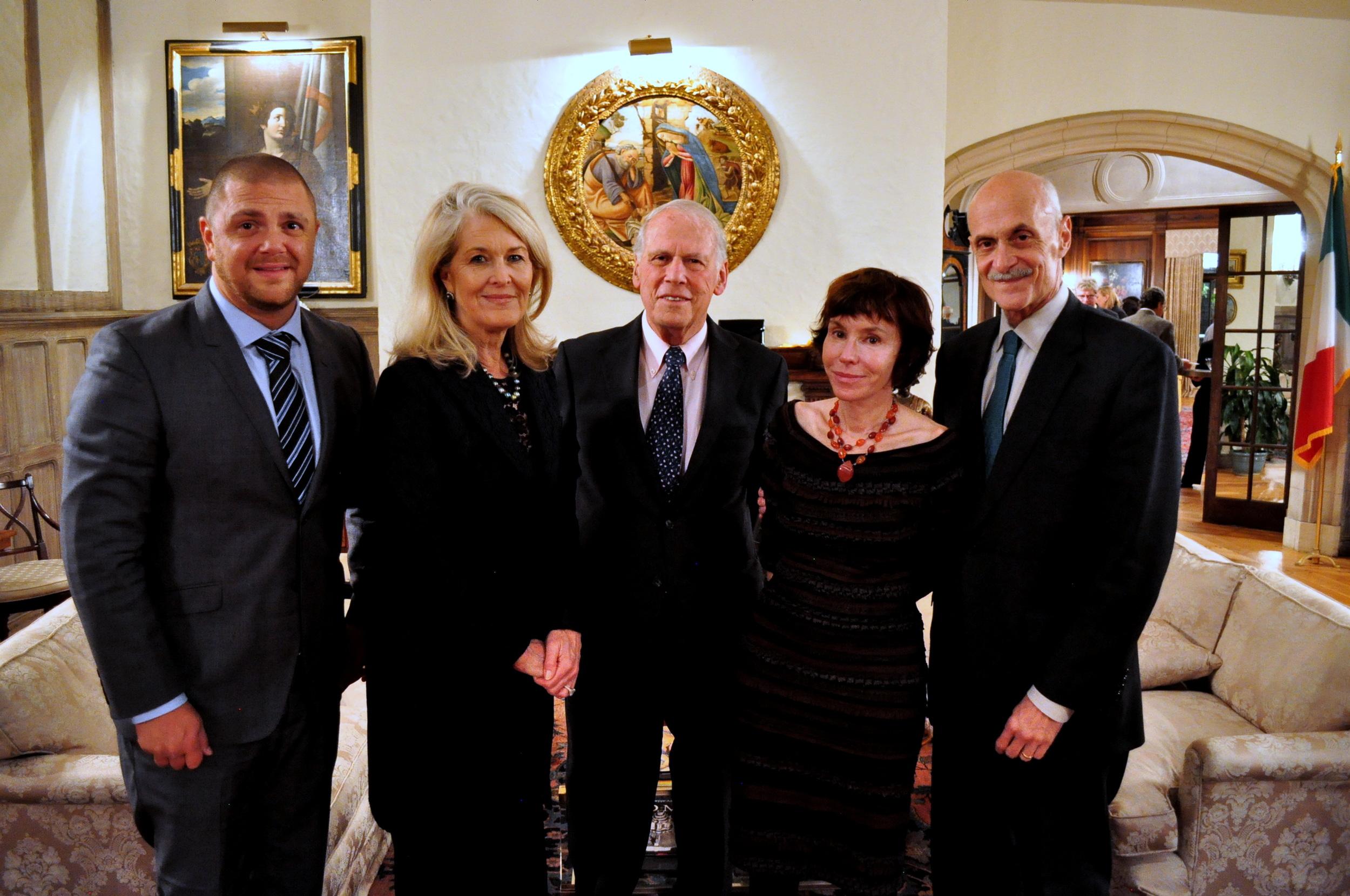 Erik Landemalm, Sydney Johnson, Former U.S. Ambassador Walter Cutler, Meryl Chertoff, and former Secretary of Homeland Security Michael Chertoff.