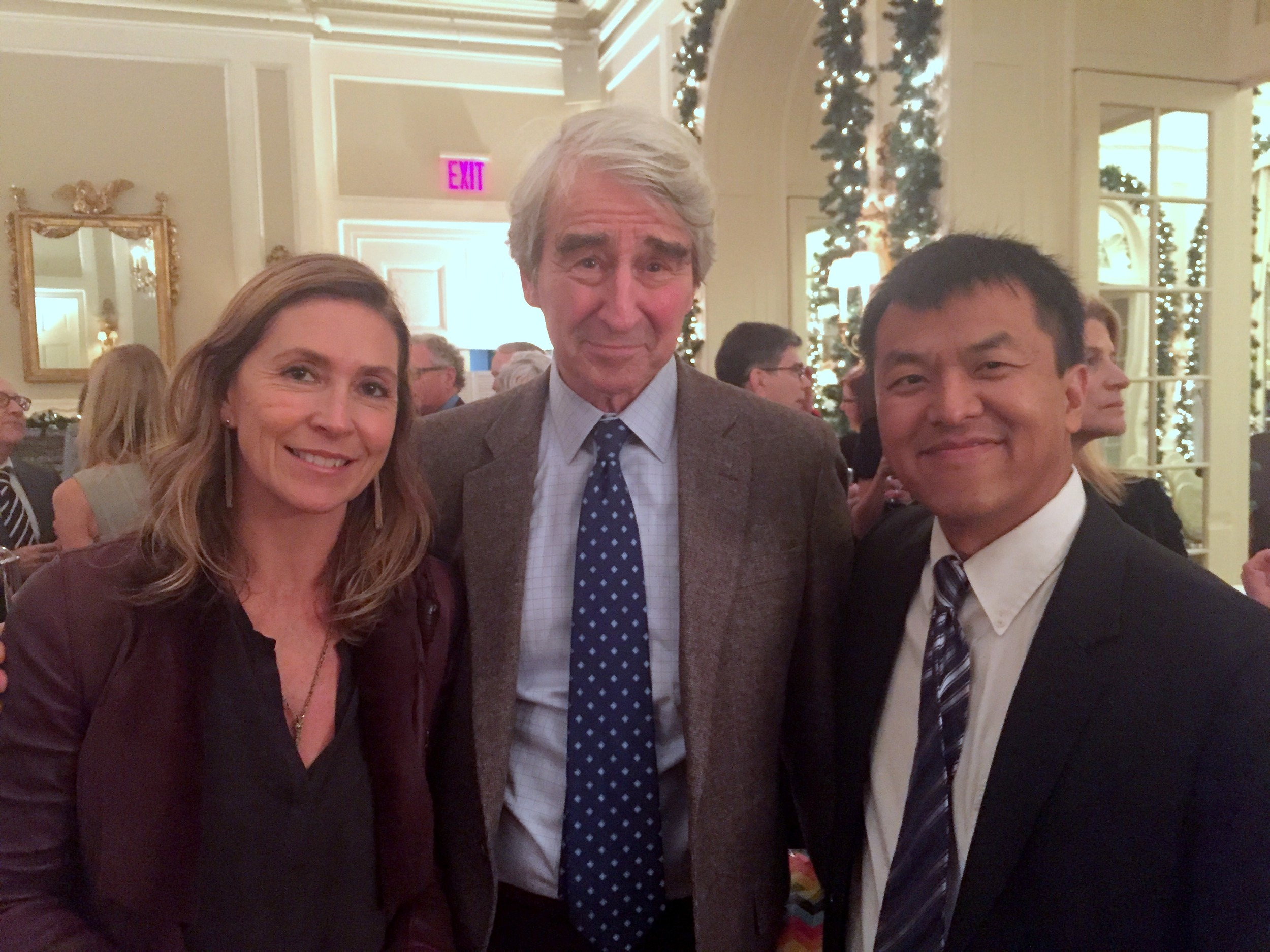 RI Board Members Natacha Weiss, Sam Waterston, and Sophal Ear.