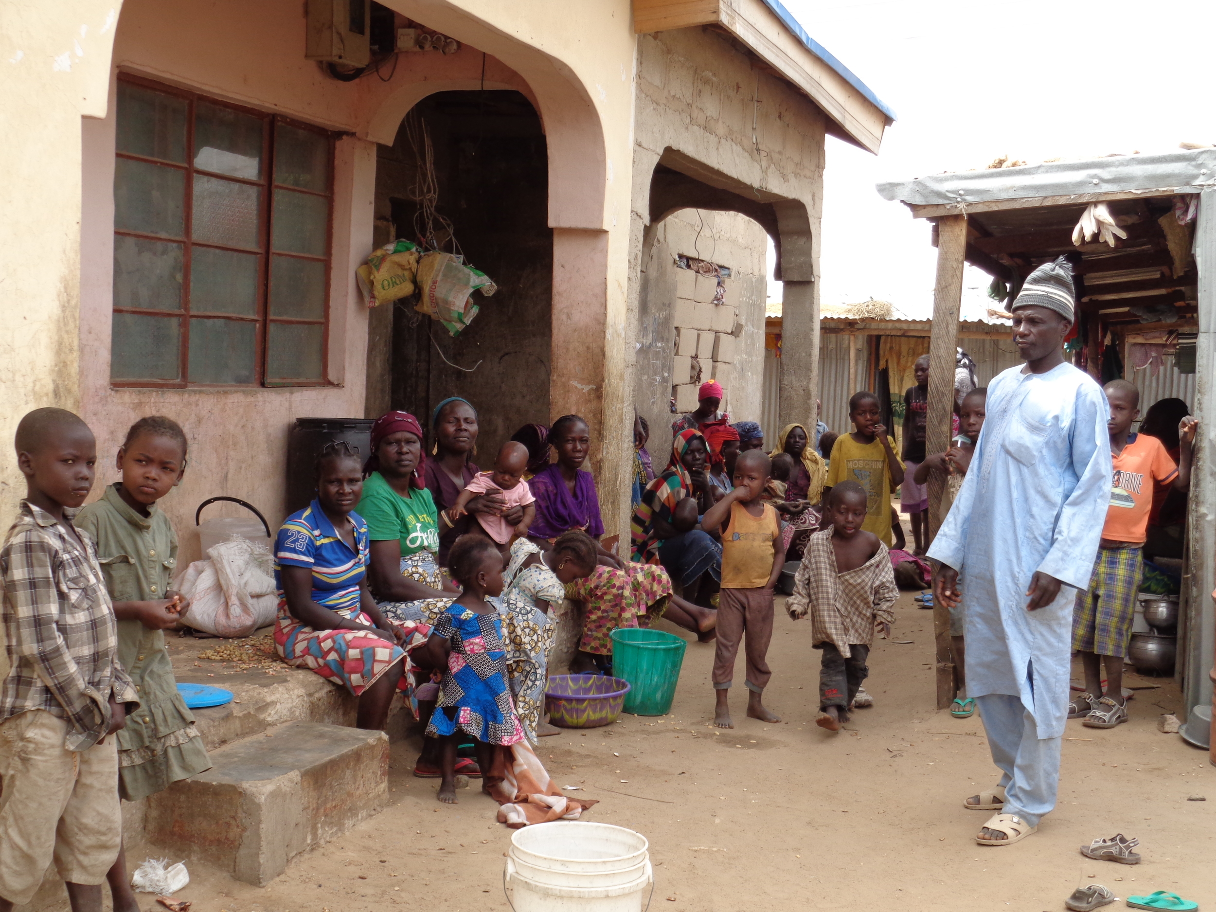 Over ninety percent of those displaced by Boko Haram are living outside of the state-run camps. The majority are women and children whose husbands and fathers were killed or captured in attacks by Boko Haram.