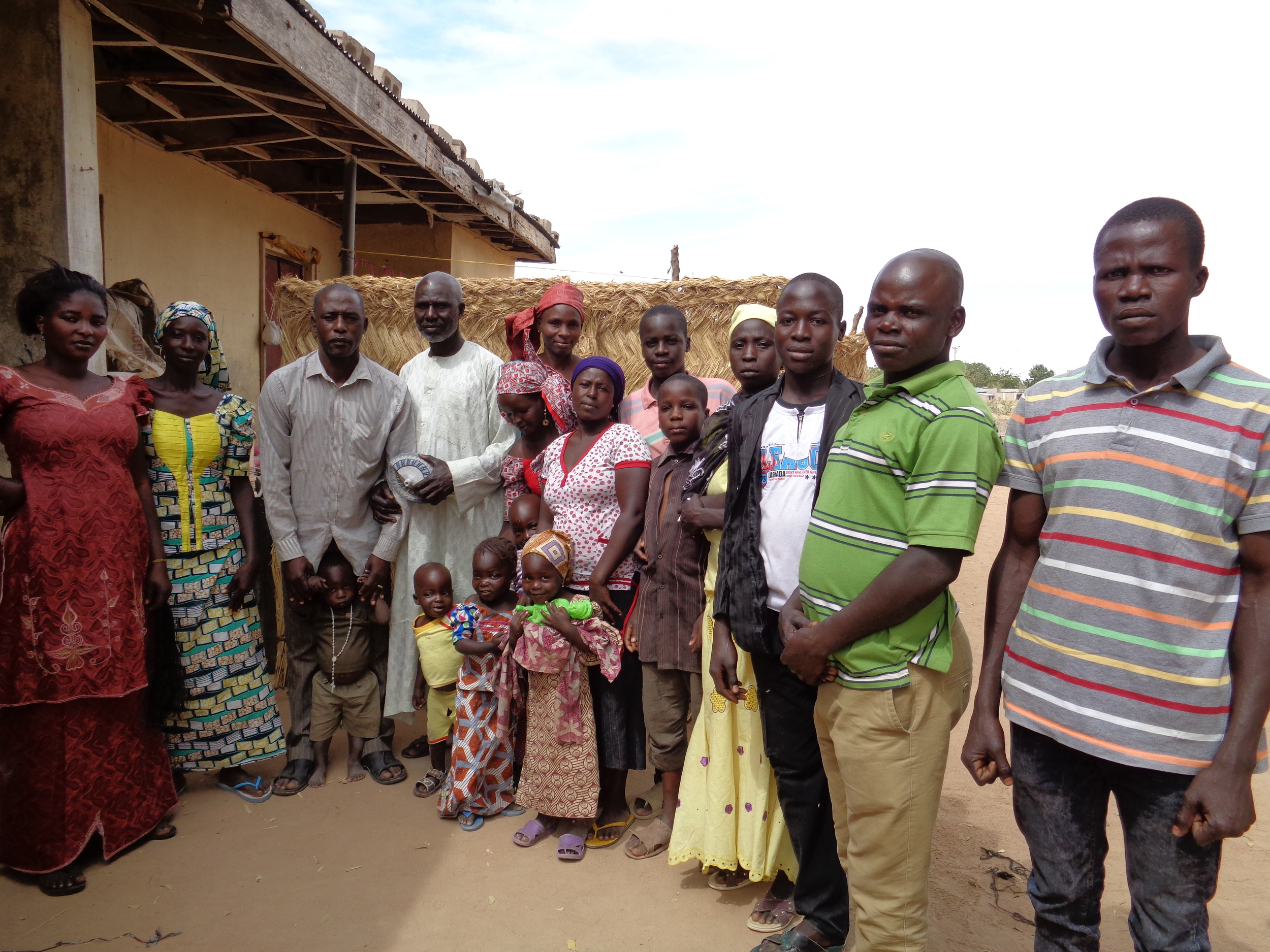Internally displaced people living in a host community in Maiduguri, northeast Nigeria.