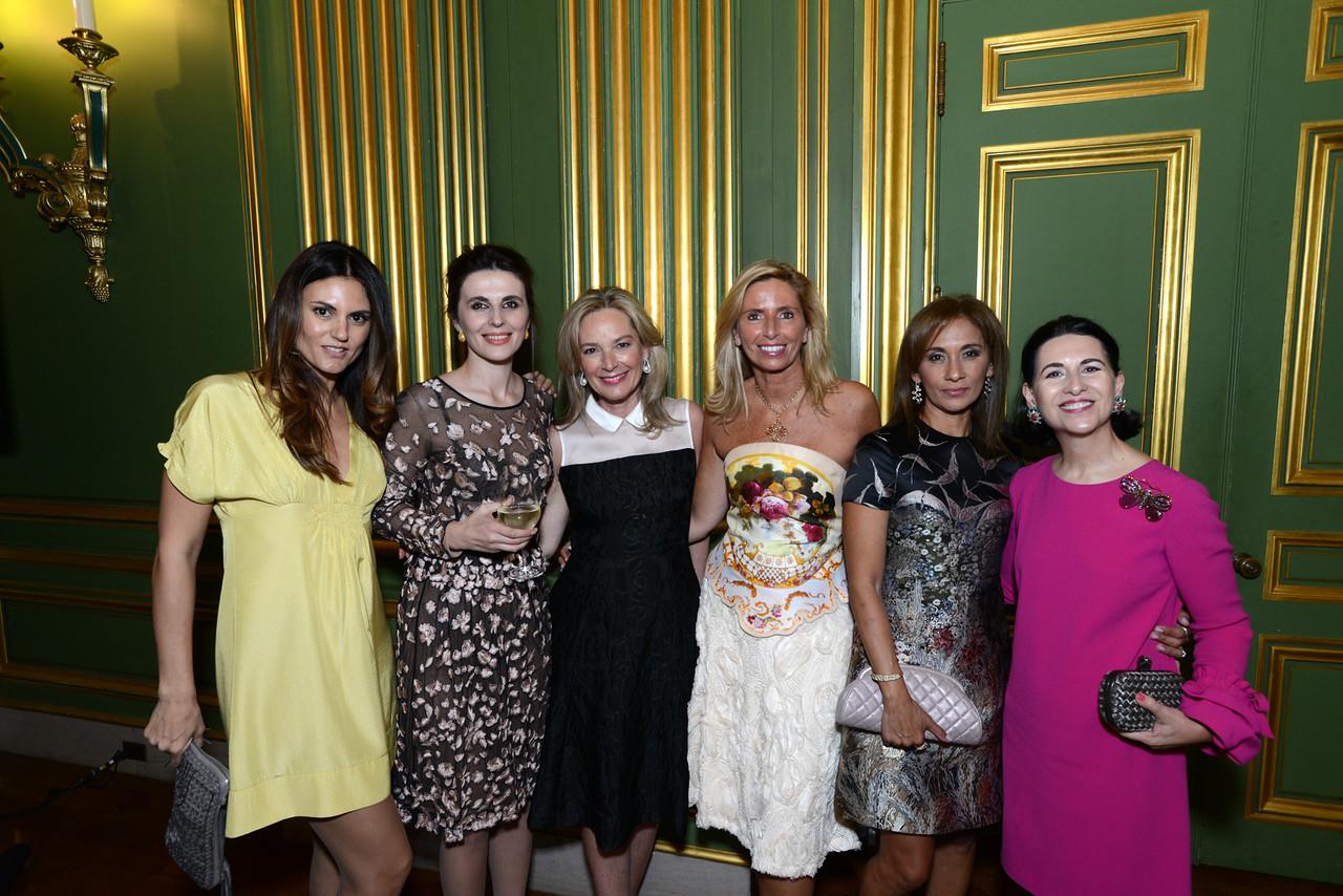 Roberta Mastromichele, Ambassador of Kosovo Vlora  Çitaku, Mariella Trager, Maria Trabocchi, Marisol Pearlstein, Casila  Garcia-Quiros.