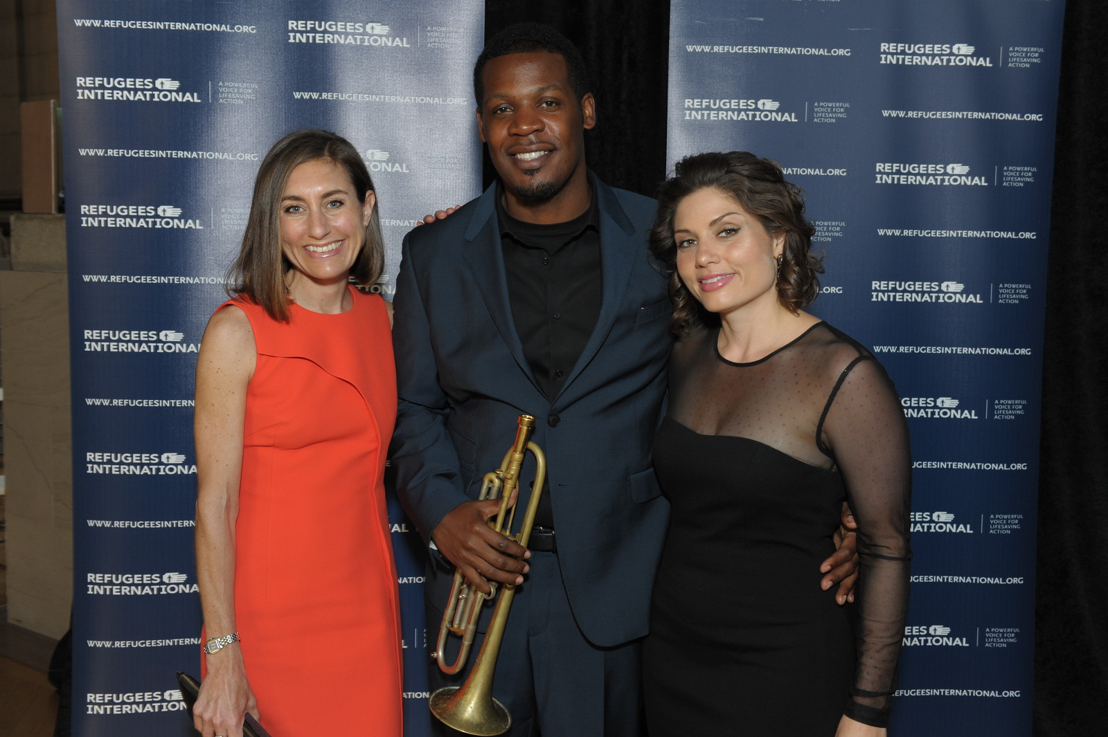 RI Board Member Sarah Bacon, Keyon Harrold, and Andrea Pizziconi.