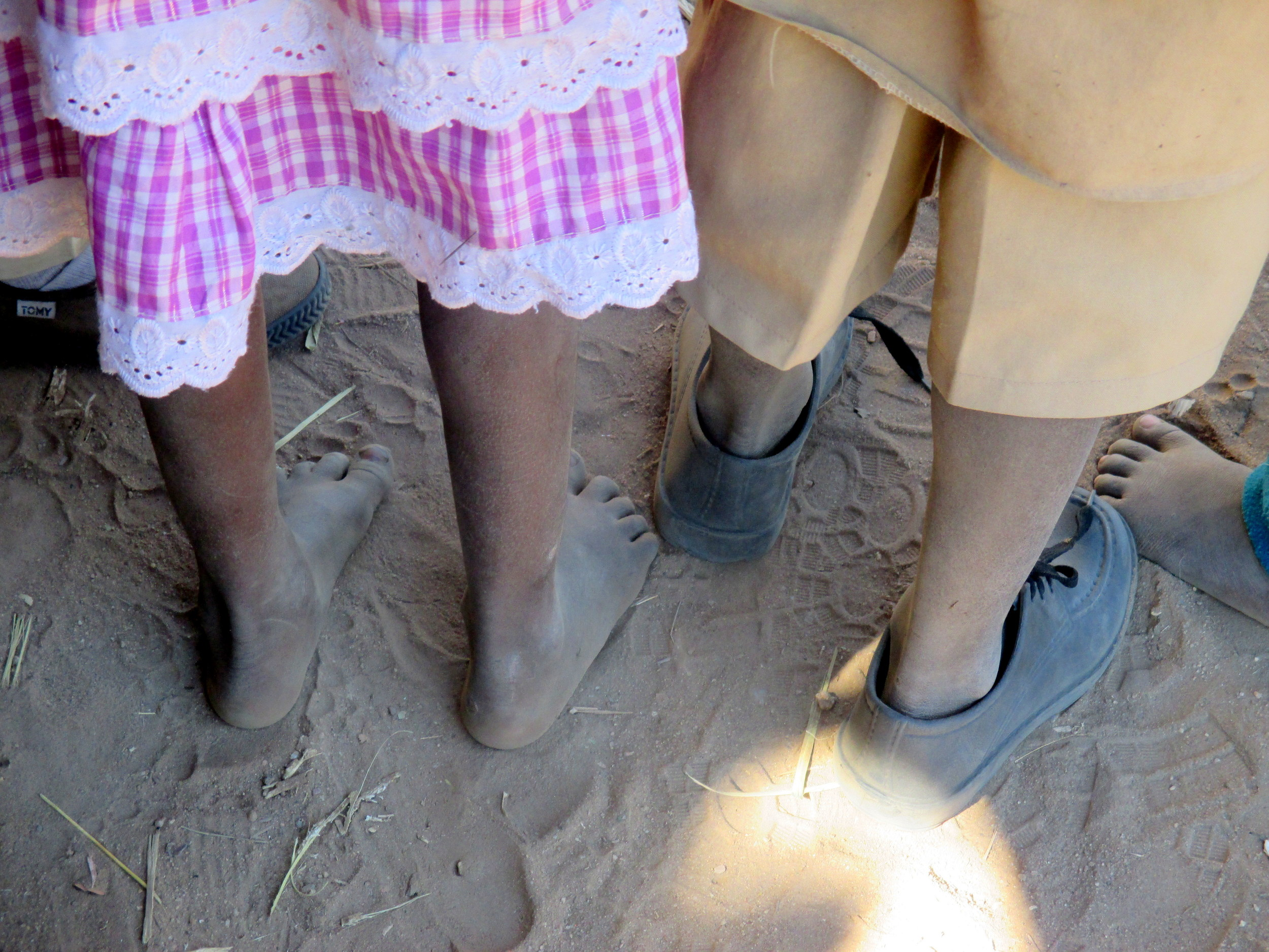 The economic impacts of the drought and failed harvests on poor families mean that few parents have the money to buy shoes for their children, let alone uniforms.