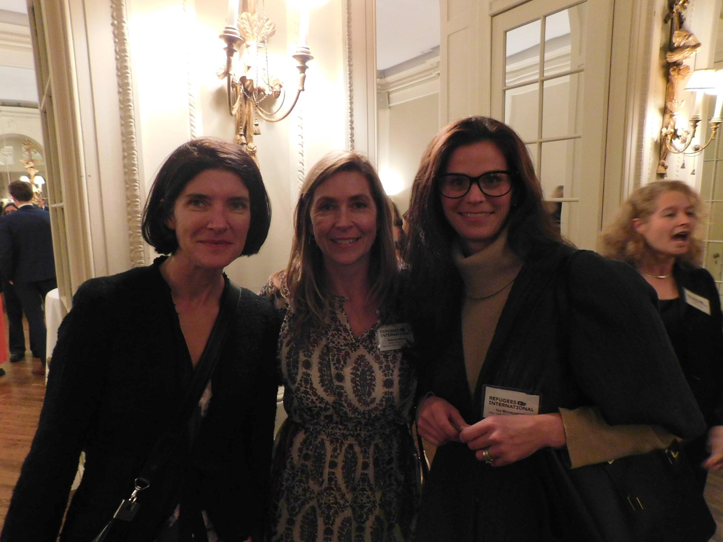 Clora Kelly, RI Board Member Natacha Weiss,Isa Moneypenny.