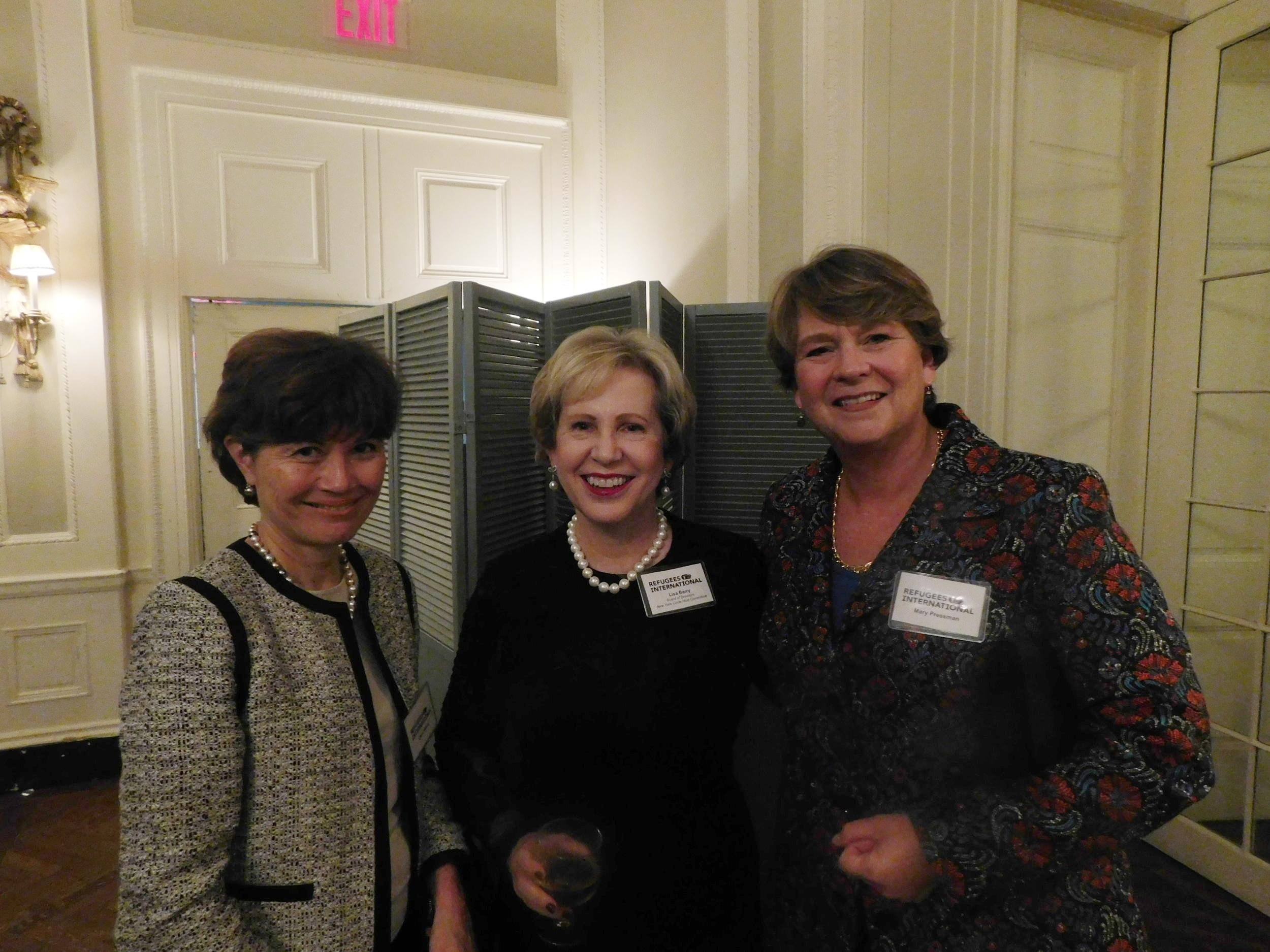 Carol Rattray, RI Board member Lisa Barry, and Mary Pressman