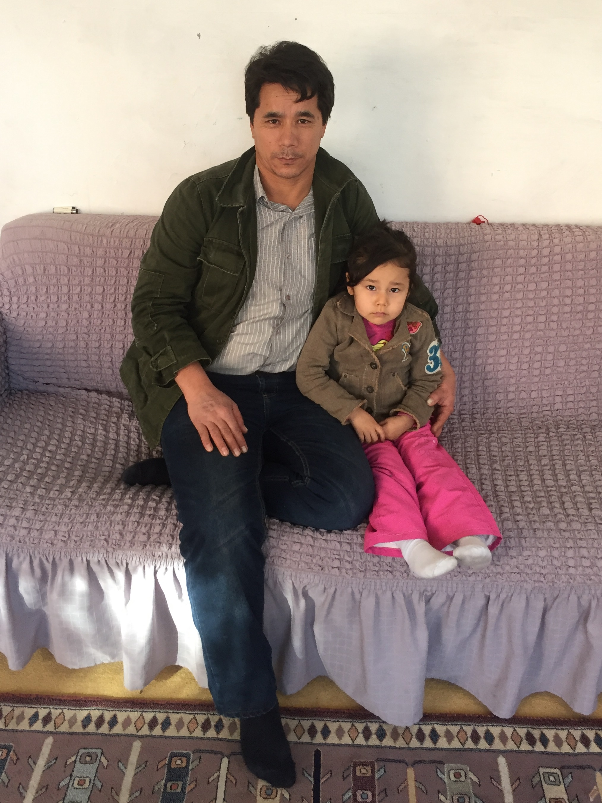 An Afghan refugee and his daughter in Aksaray, Turkey.