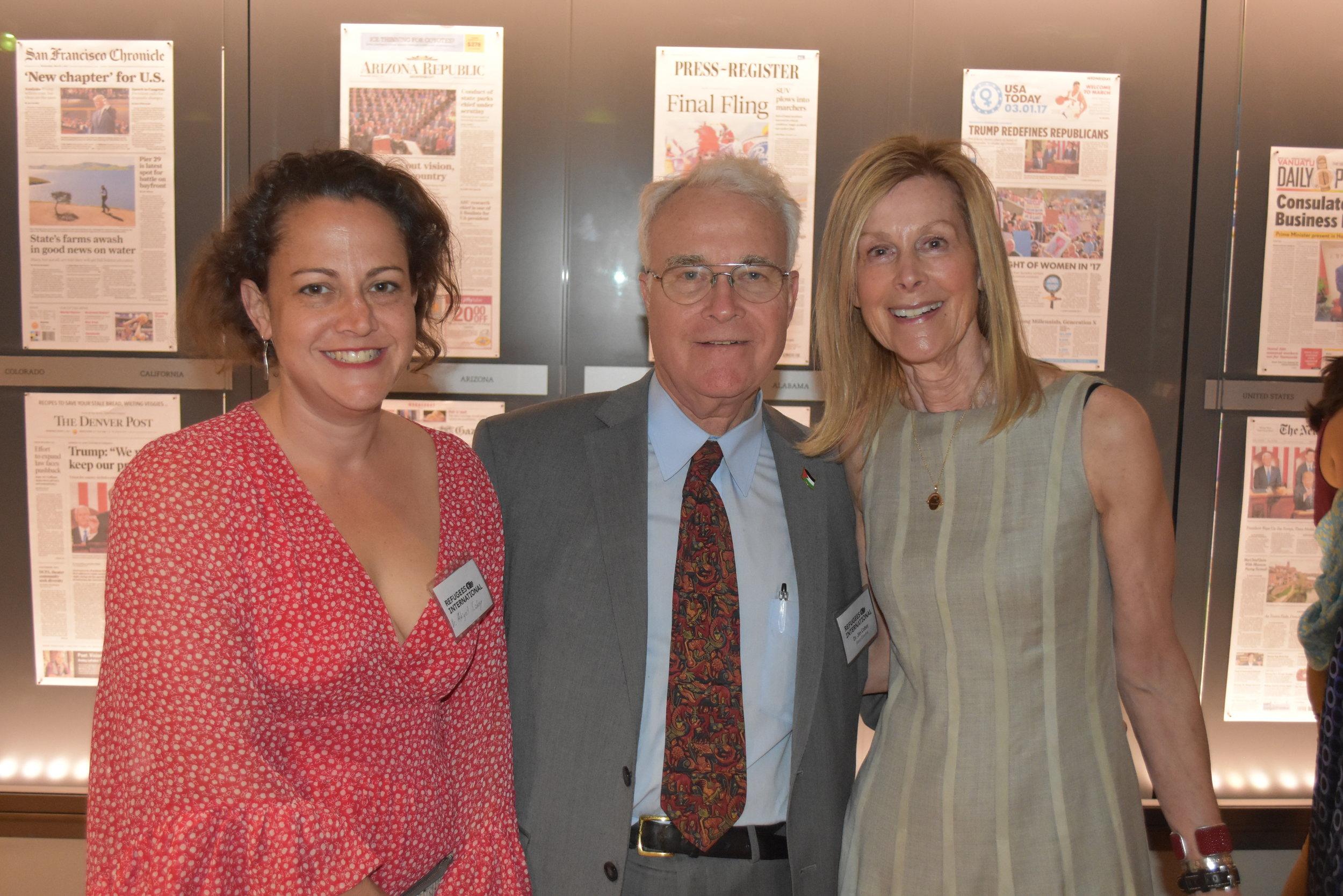 Dr. Abigail Cobey, RI Board Emeritus Dr. James Cobey, and RI Board Chair Eileen Shields-West