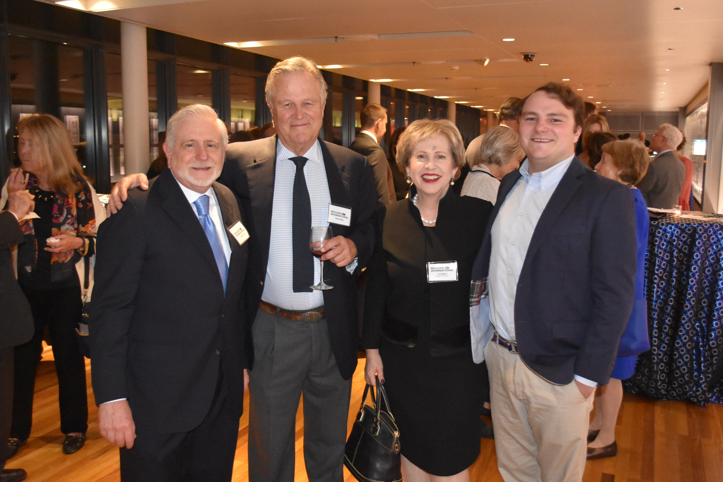 James Gale, Robin West, RI Board Member Lisa Barry, and Wyeth West