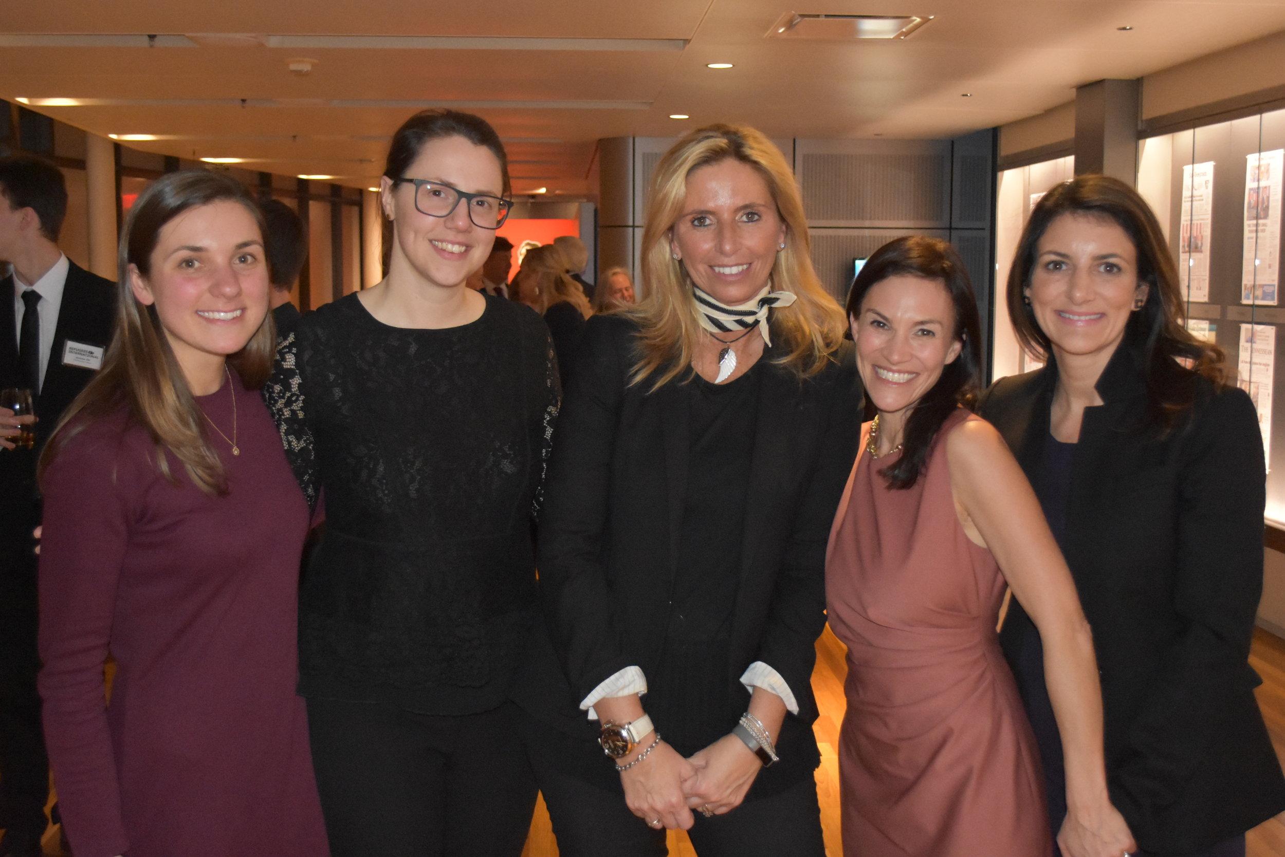 Eva Greene, Courtney Allen, Benefit Chair Maria Trabocchi, Global Partnership Initiative Chair Sarah Bovim, RI Board Member Jodi Bond