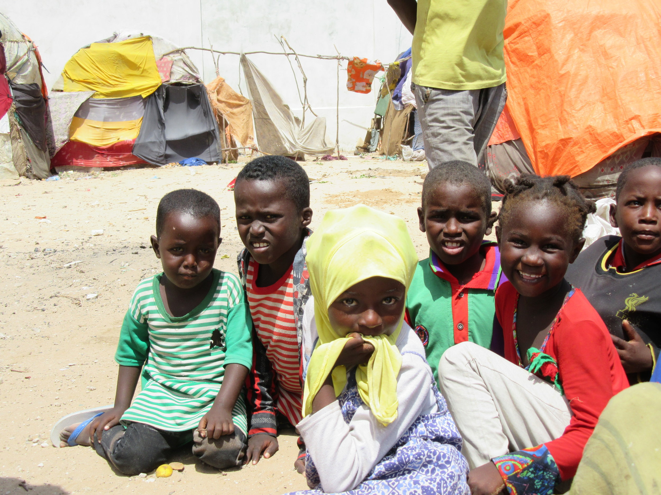 Many of the IDPs are young children and have no access to education or child-friendly spaces.