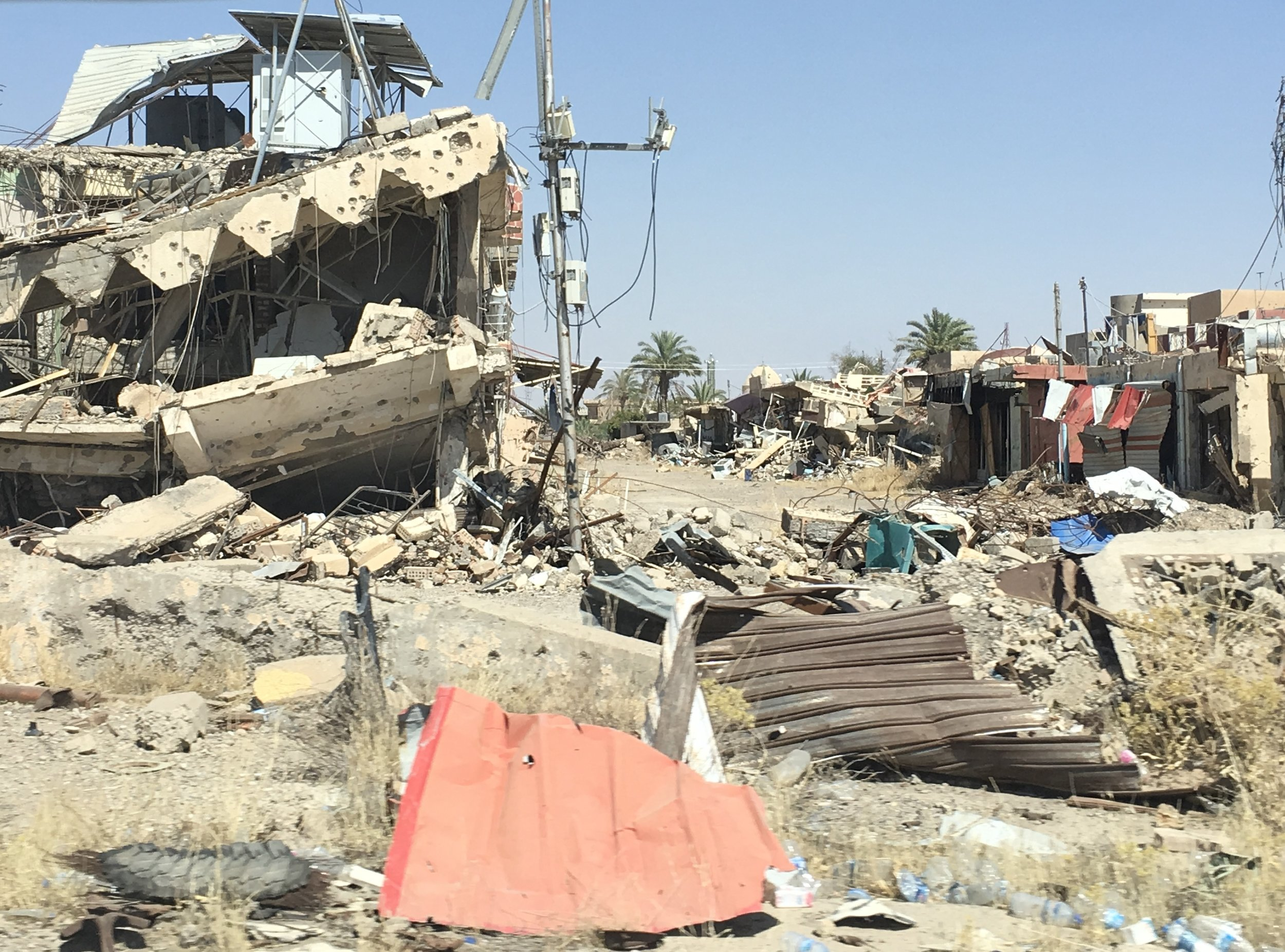 Home for many IDPs in this camp is nearby, but was largely destroyed when ISIS occupied it.