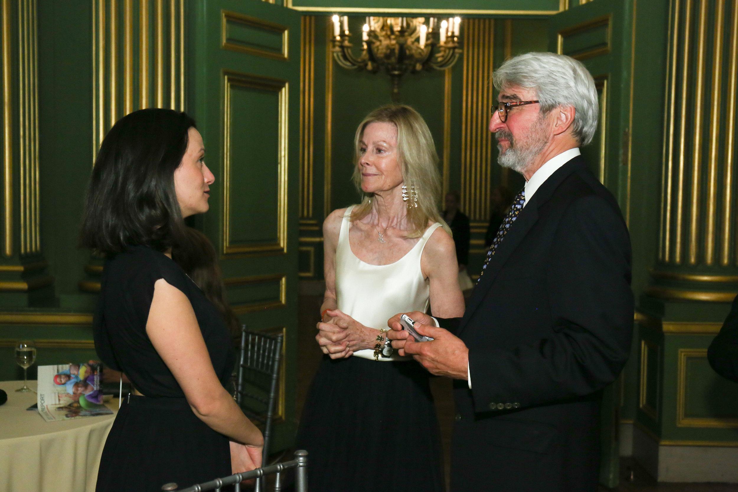 RI Advocate Alexandra Lamarche with Board Chair Eileen Shields-West and Board Member Emeritus Sam Waterston.