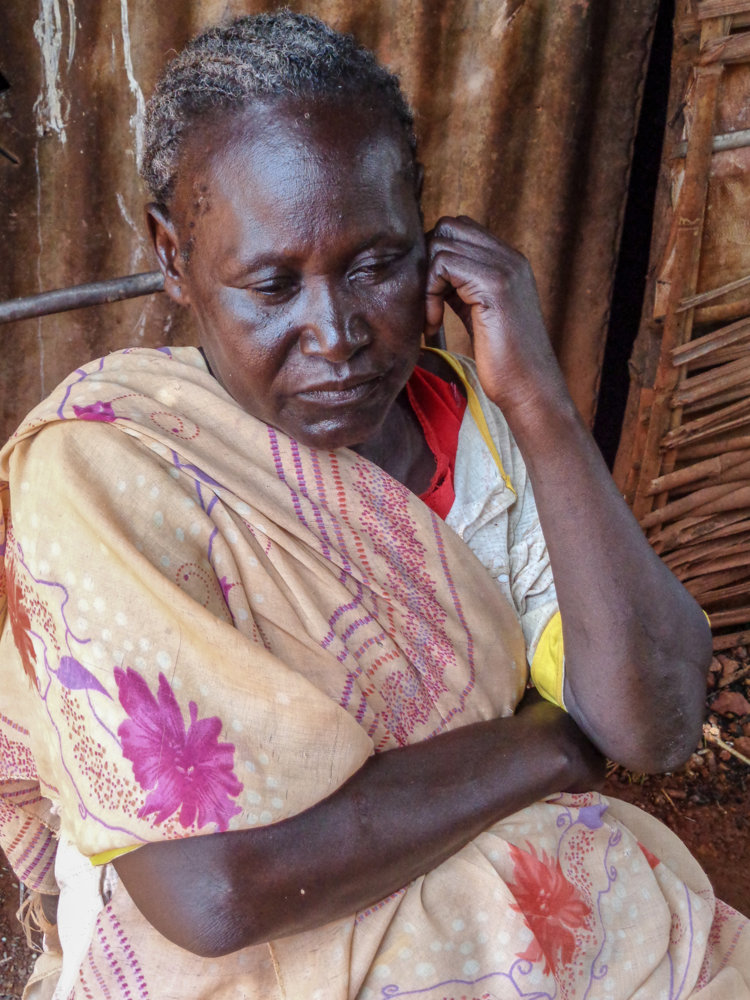 Regina Emilio was forced to flee her home after civil war broke out in South Sudan in December 2013.