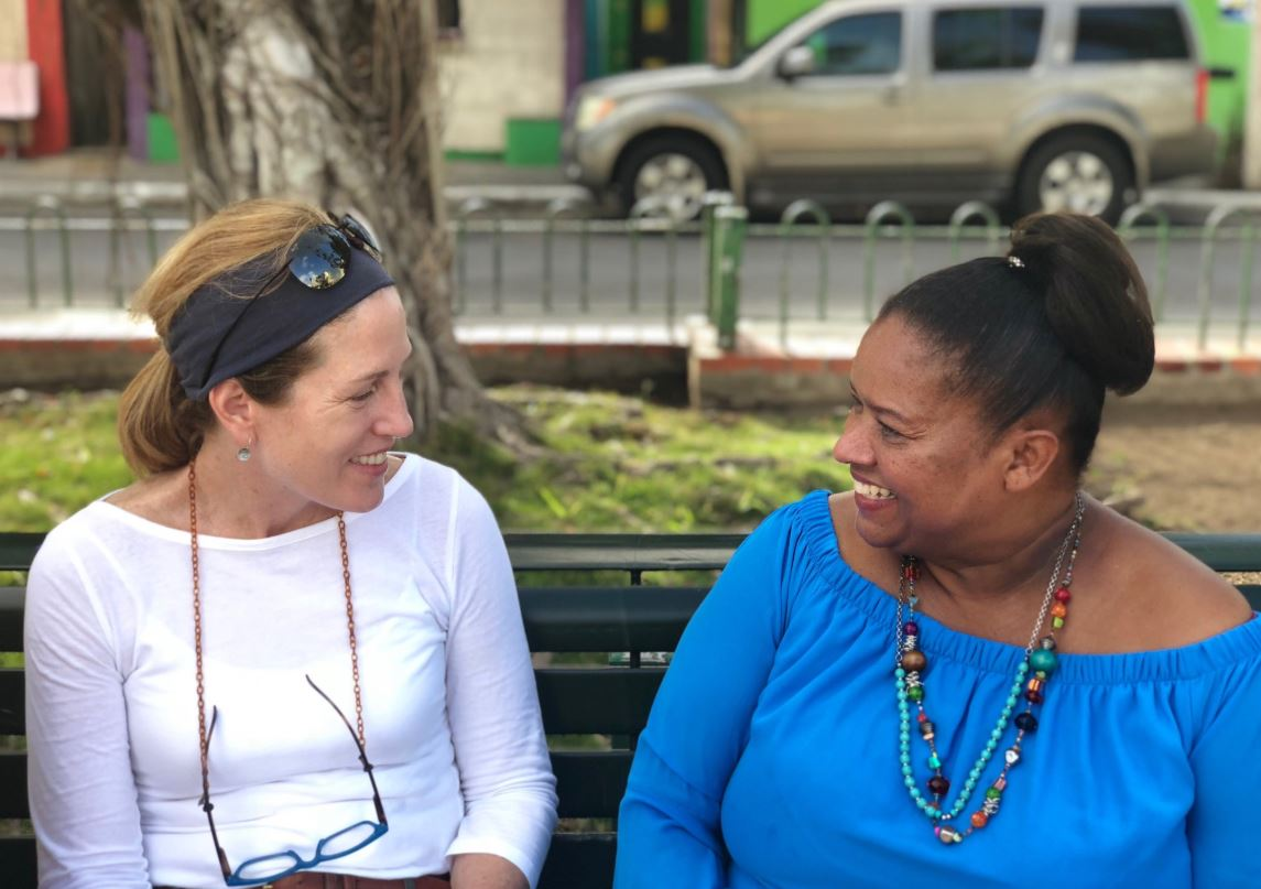 Alice Thomas and Modesta Irarzarry of Taller Salud in San Juan, Puerto Rico.