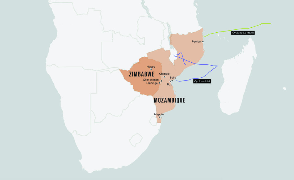 Devastation and Displacement: Unprecedented Cyclones in Mozambique and Zimbabwe a Sign of What's to Come?