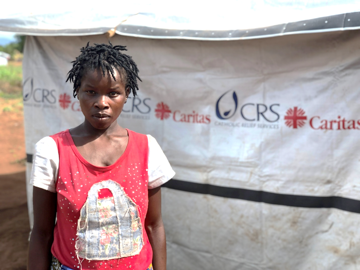 Jocelyn (name changed for confidentiality) is 24 and has five children. They all live together in a tent donated by aid agencies after her home was destroyed by Cyclone Idai in rural Mozambique.