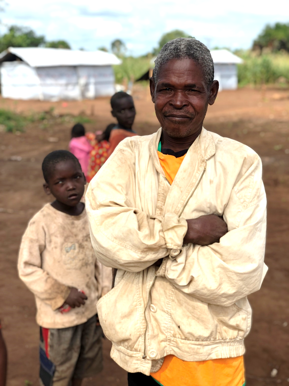 John (name has been changed for confidentiality) lost his farm during the floods caused by Cyclone Idai and now lives in a tent far from his original home in Mozambique.