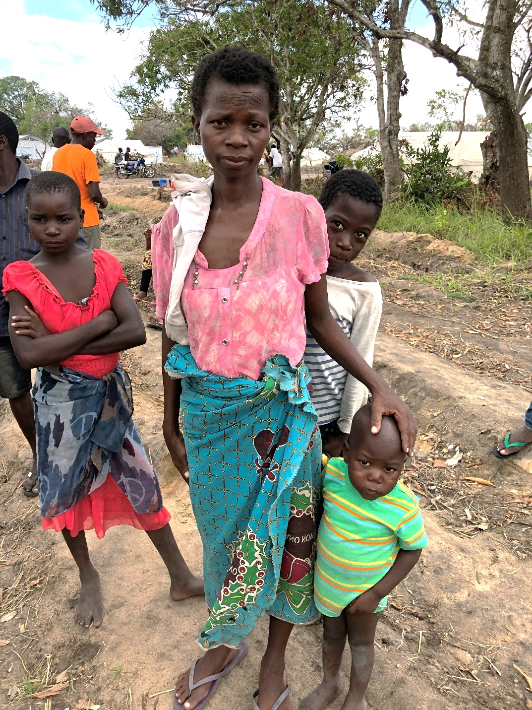 During Cyclone Idai, this woman was separated from her husband and climbed up a tree with her children to avoid the floodwaters. She assumes that her husband died, but she never saw his body. She explained that people are traumatized and fear that a storm like Idai will happen again.