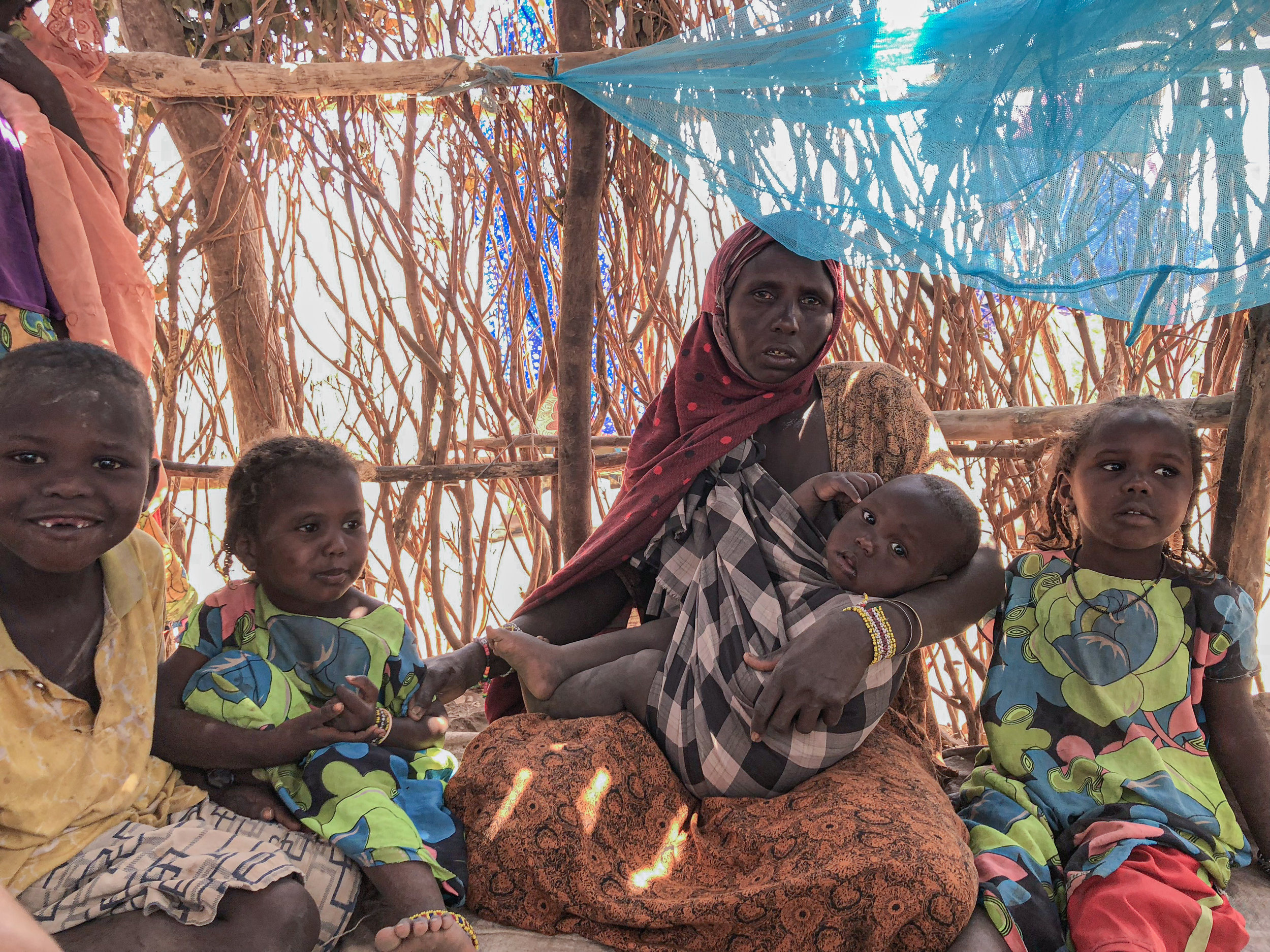 Family displaced by drought in the Idora IDP site. Photo by Refugees International.