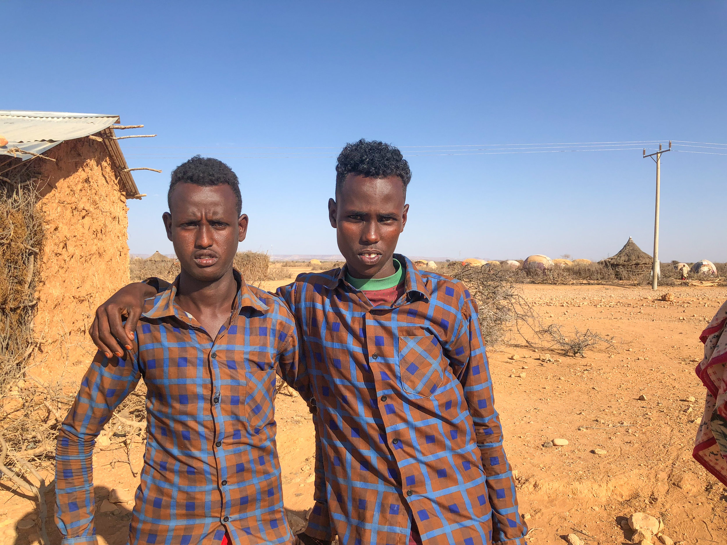 Teenage boys displaced by drought in Ethiopia. Photo by Refugees International.