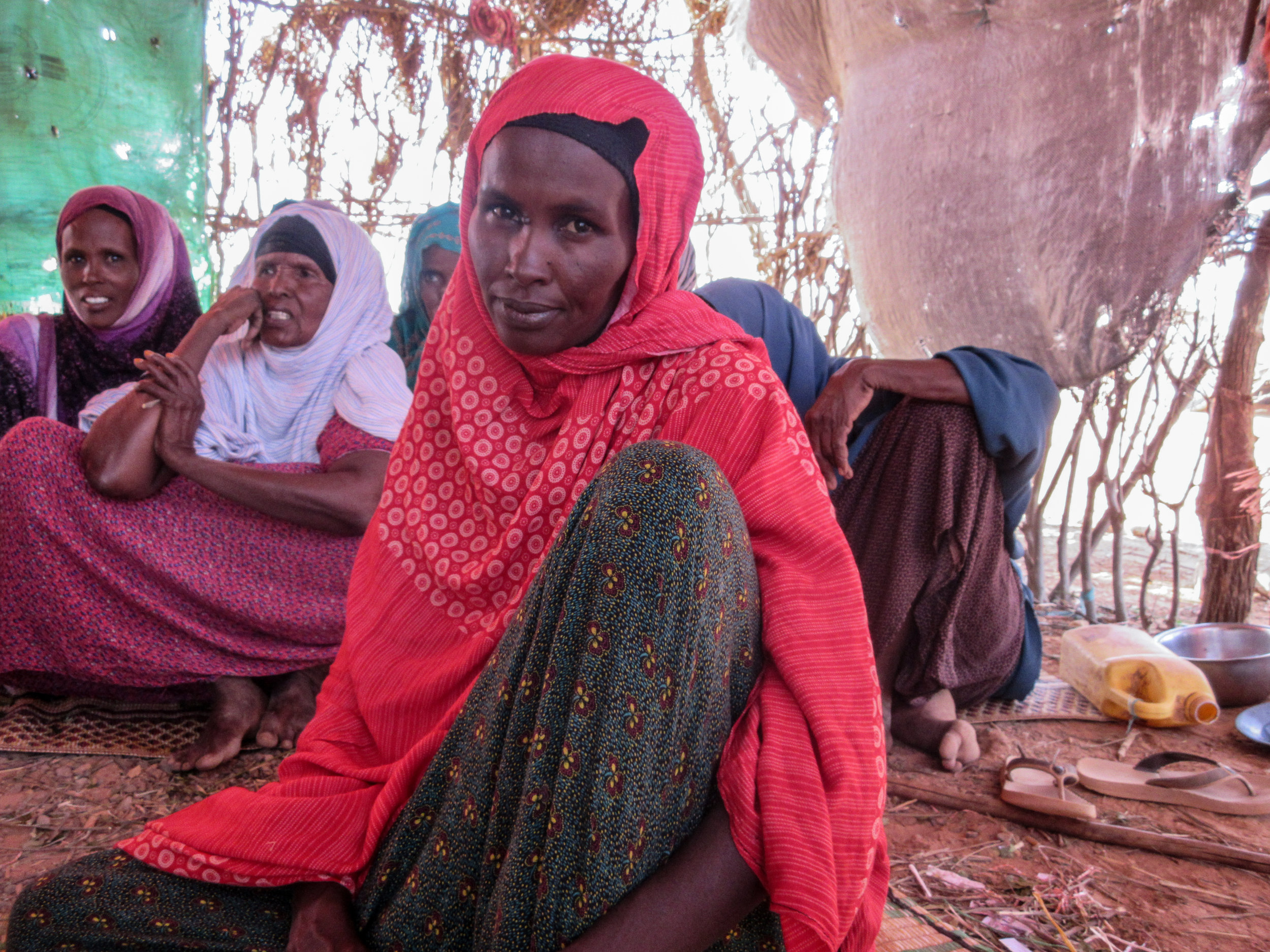 Women displaced by drought at the Elan IDP site in Ethiopia. Photo by Refugees International.