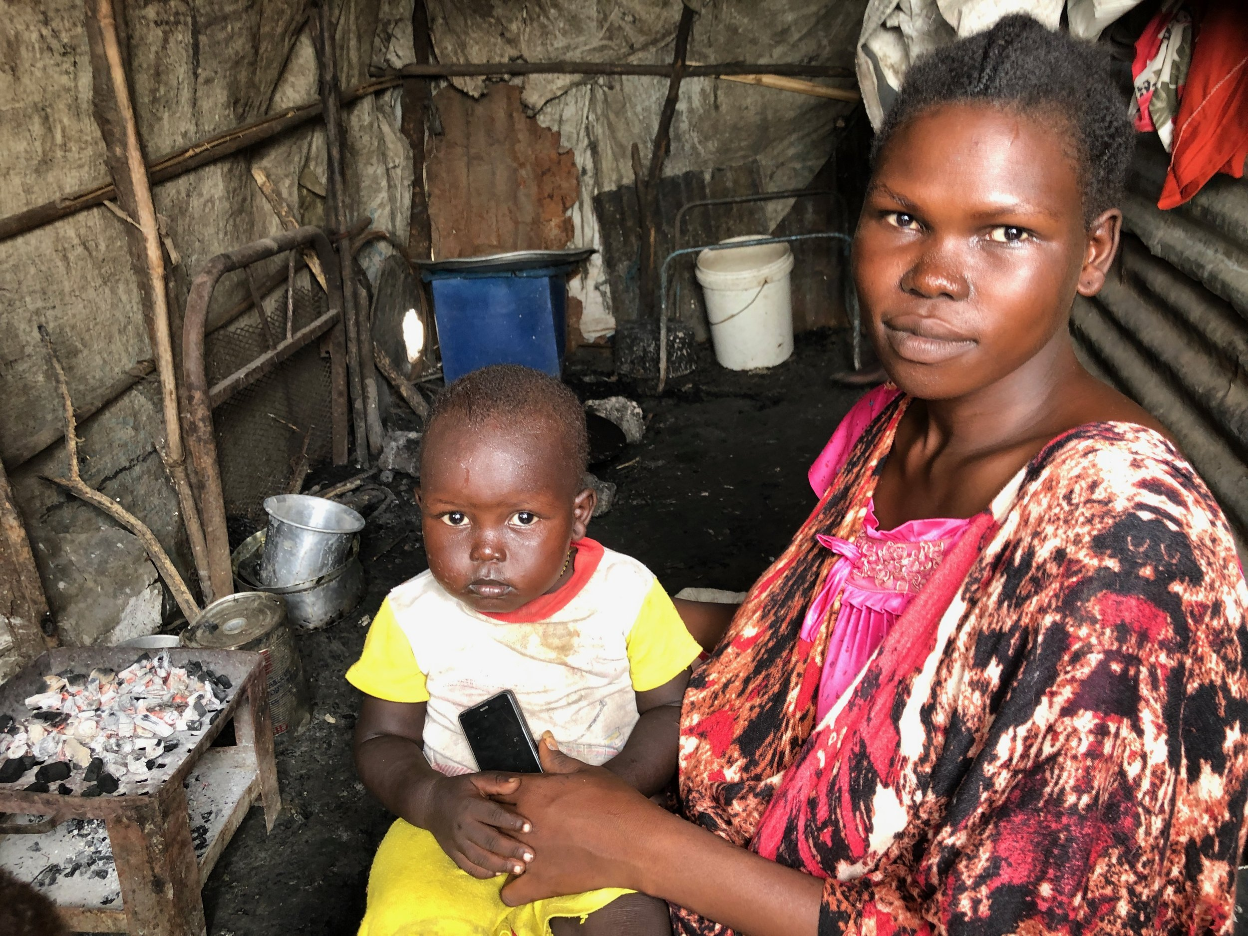 A woman the team interviewed in the Malakal POC, like so many other young mothers, fears leaving the POC because there are still reports of attacks against women and girls around the country.