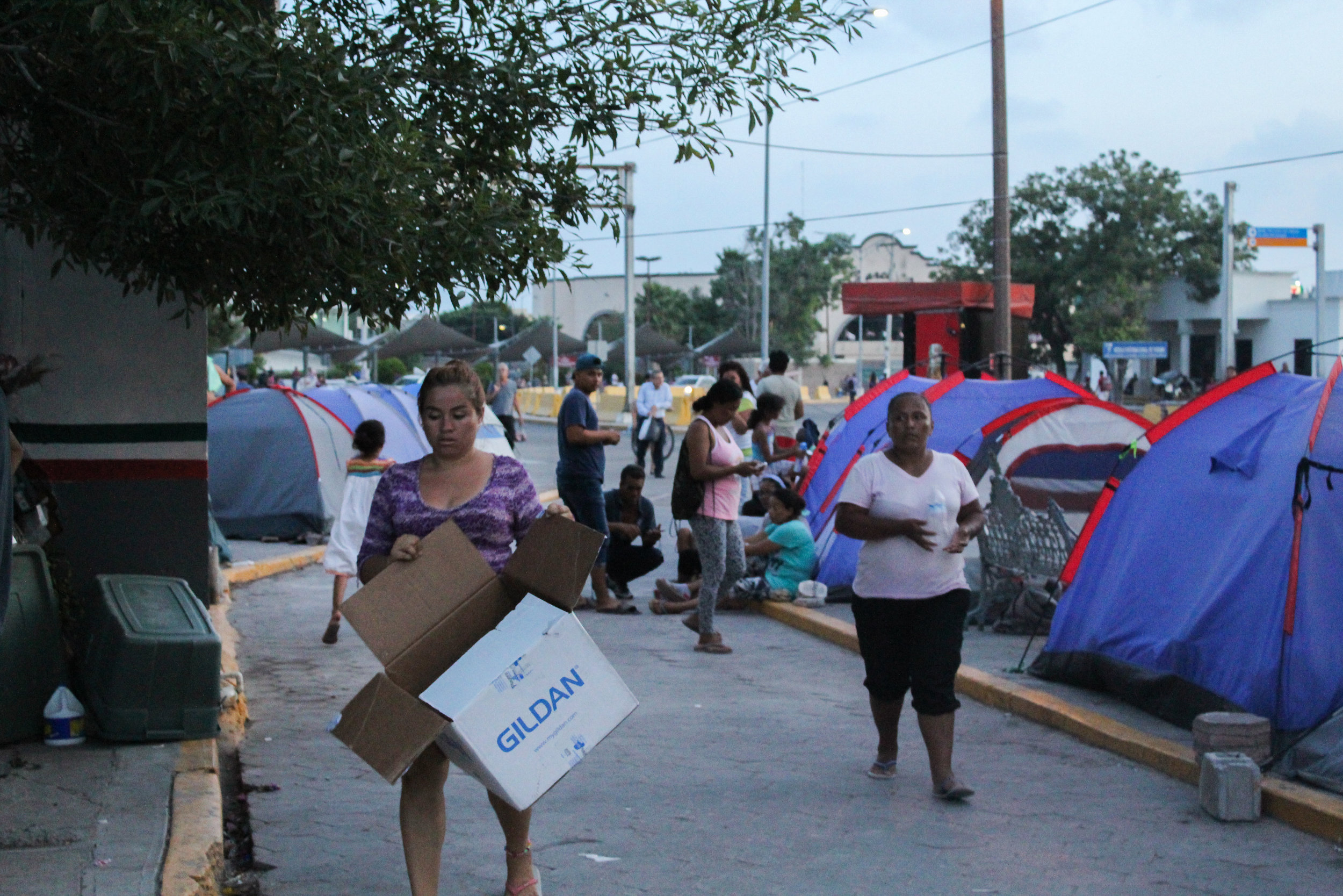 Camps for returned asylum seekers are growing in Matamoros, Mexico.