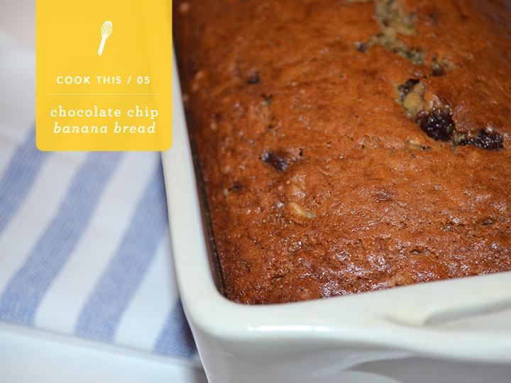 chocolate chip banana bread | colorwhirl