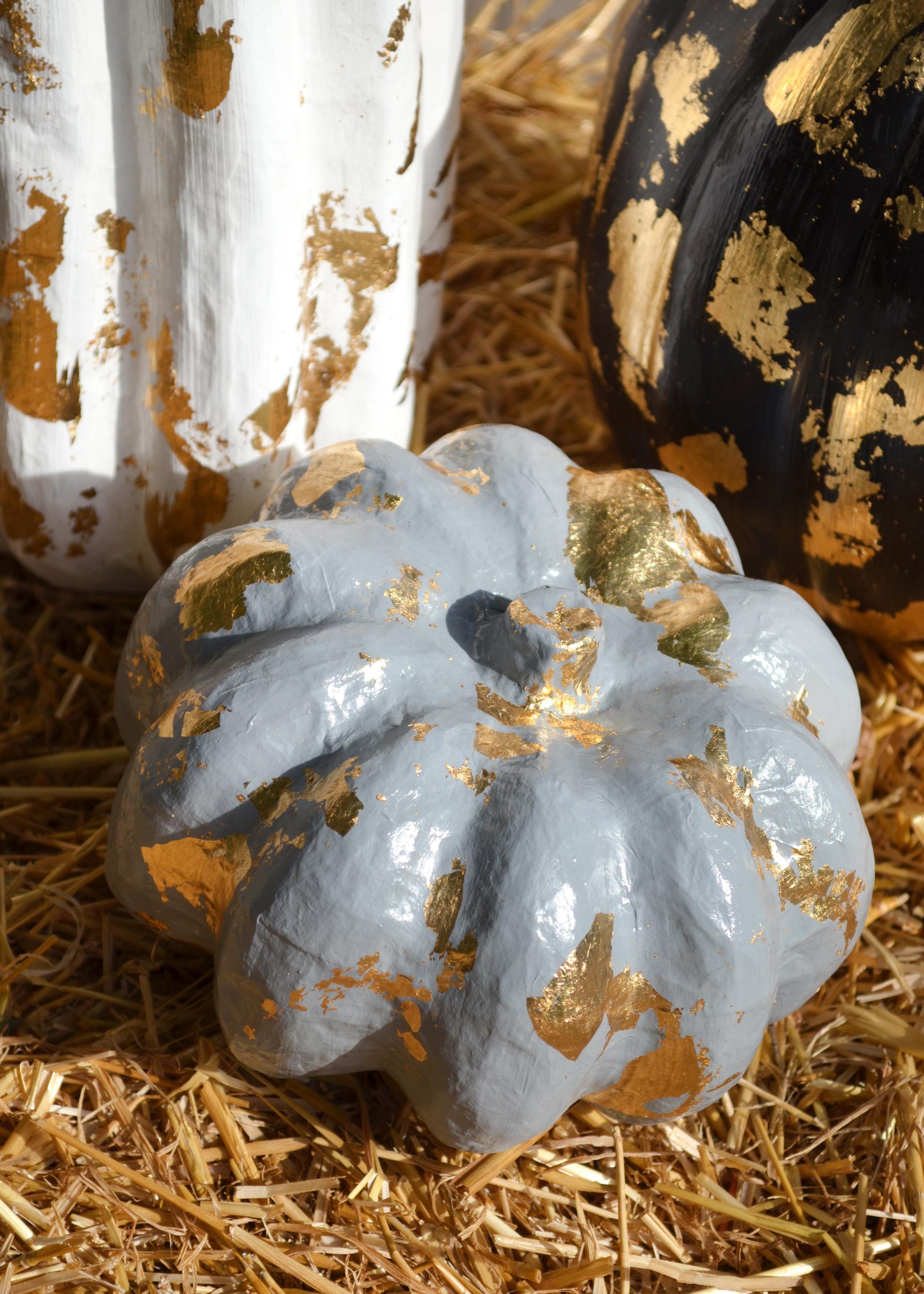 colorwhirl | gold leaf pumpkins