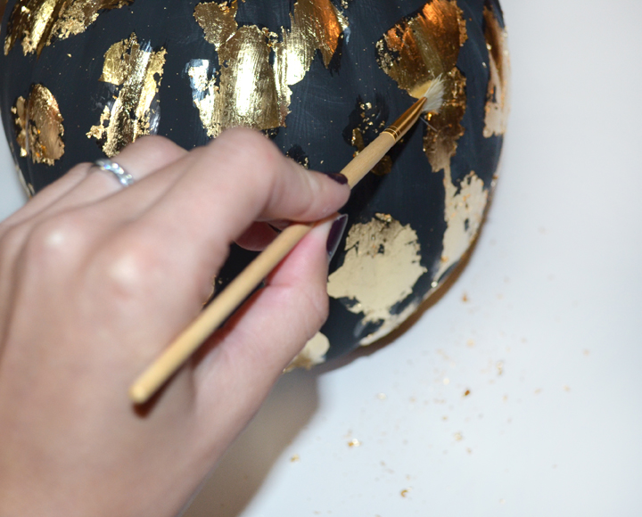 colorwhirl   gold leaf pumpkins