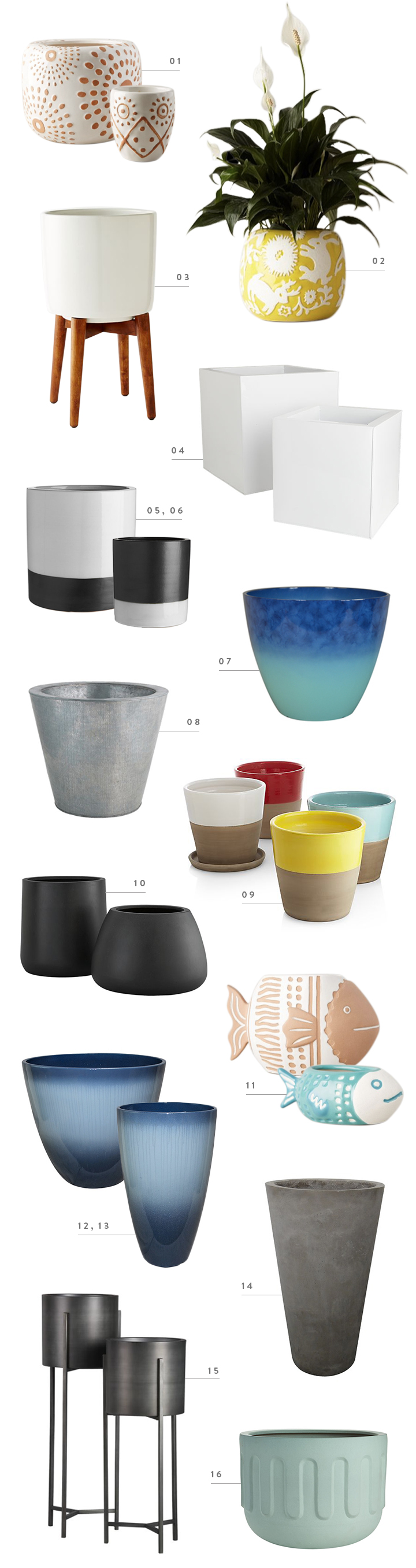 colorwhirl | outdoor planter roundup