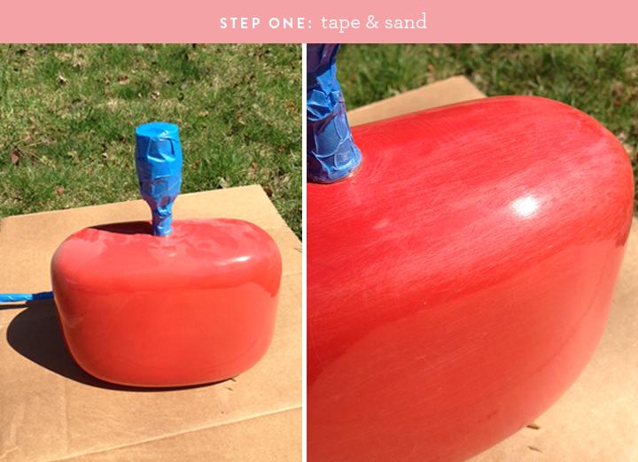 Rebecca Atwood inspired lamp DIY   colorwhirl.com