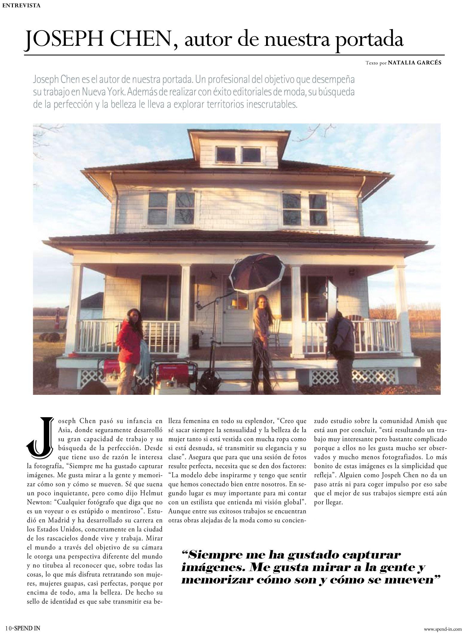 Spend In Magazine Interview