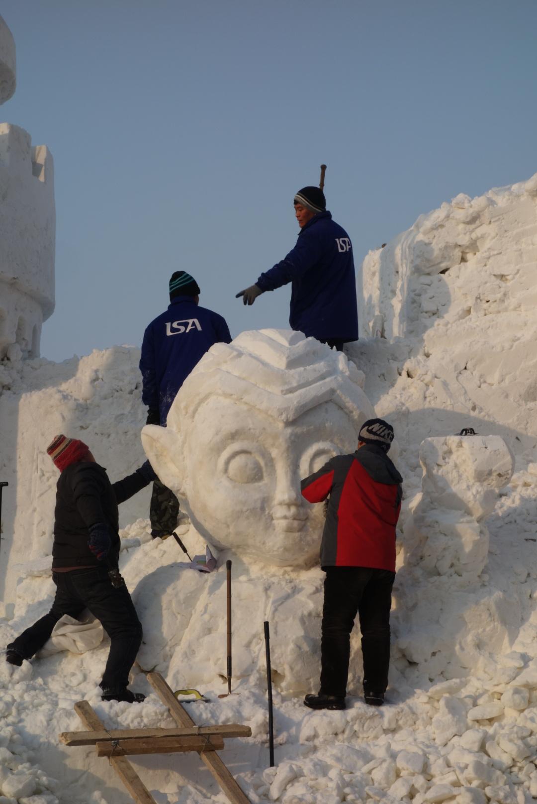 Snowman/woman