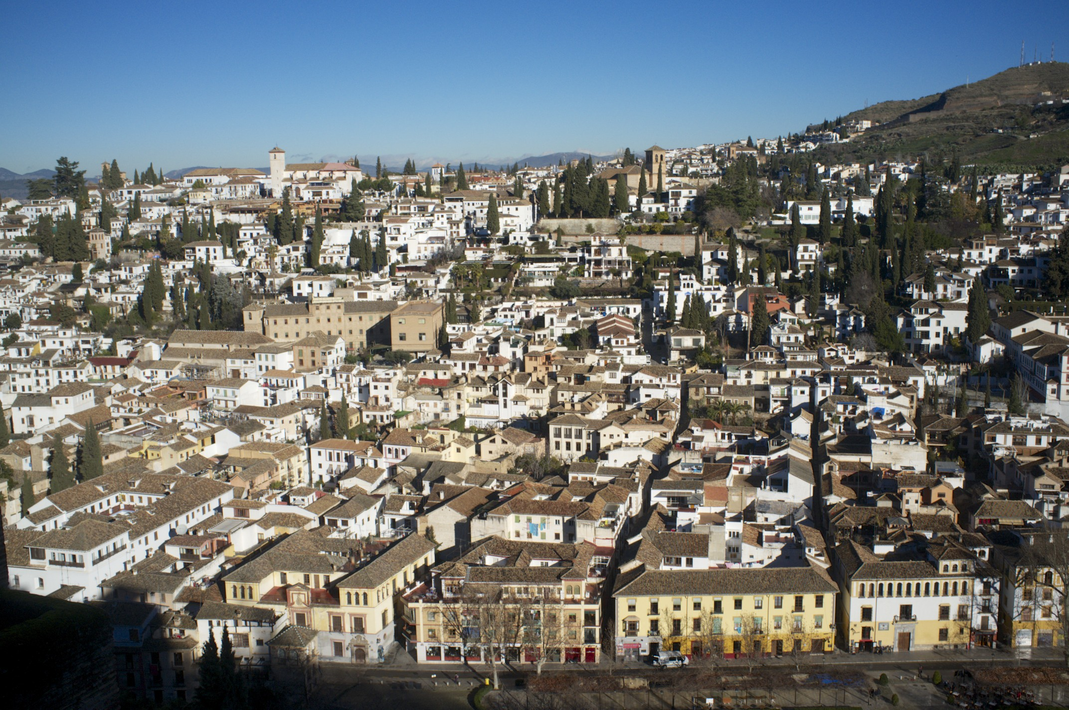 View on Granada from Alhambra (as seen on the 5th of February, 2014)
